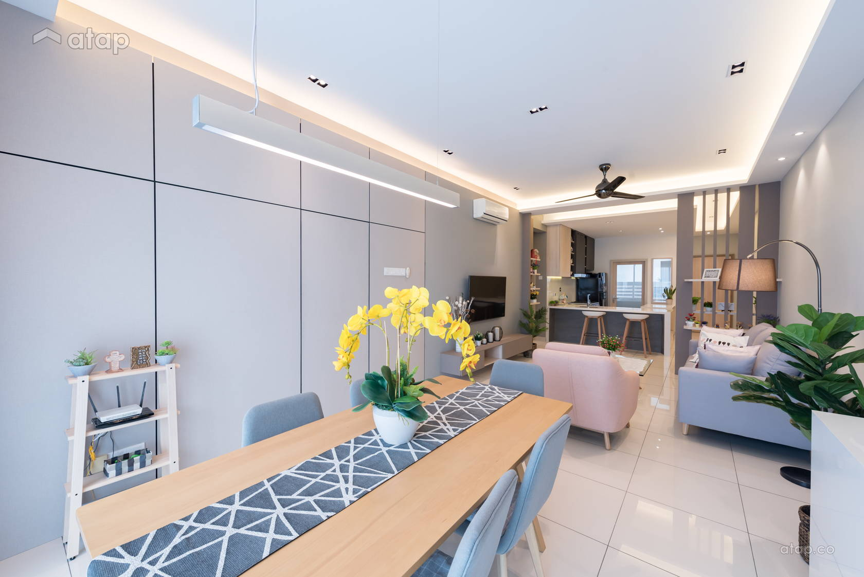 Minimalistic Scandinavian Kitchen Living Room Condominium Design Ideas Photos Malaysia Atap Co