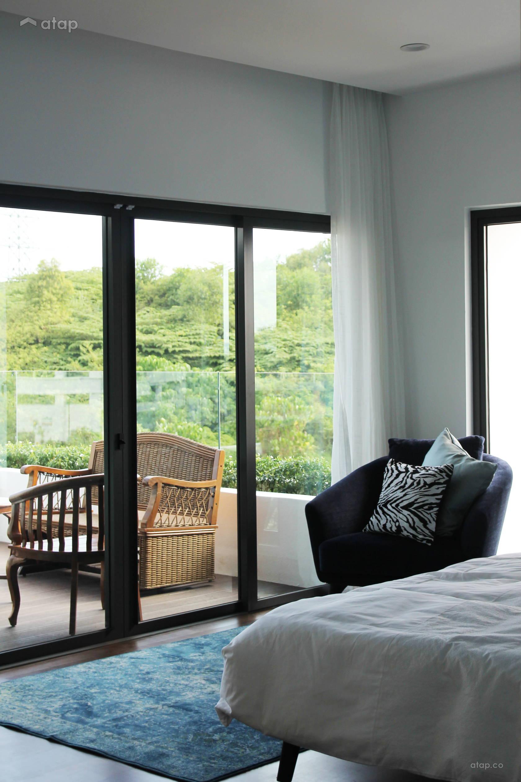 Atap.co & Contemporary Scandinavian Balcony Bedroom semi-detached design ideas ...
