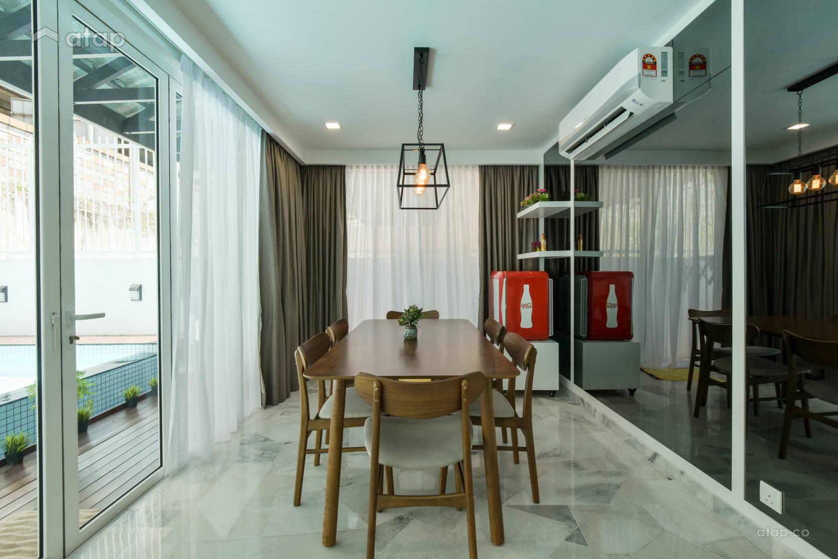 Classic Modern Dining Room Terrace Design Ideas Photos Malaysia