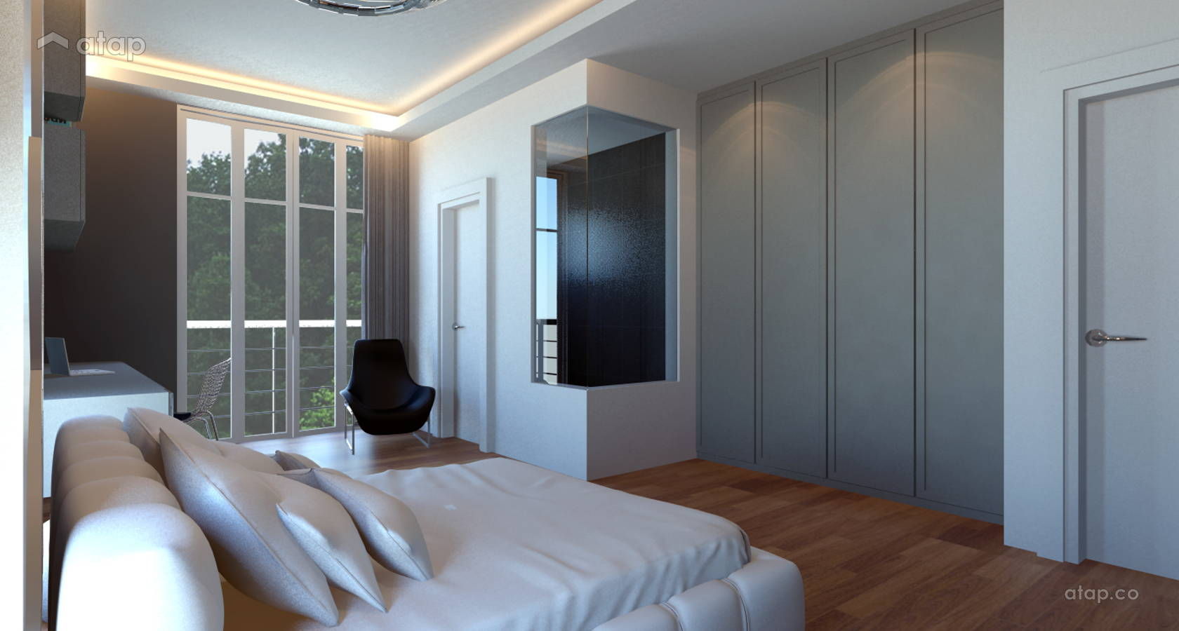 Contemporary Modern Bedroom @ 4 Storey Semi D - Damansara