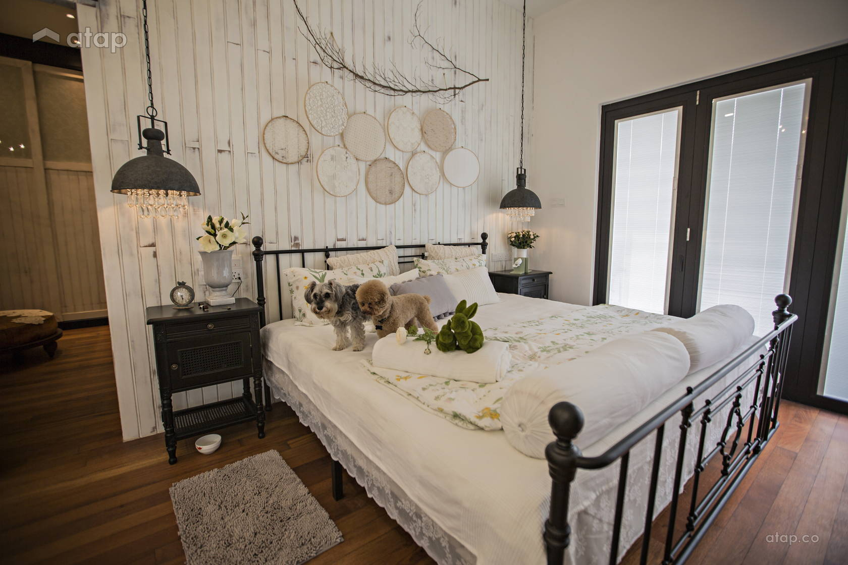 Industrial Rustic Bedroom @ Southern French Farm House