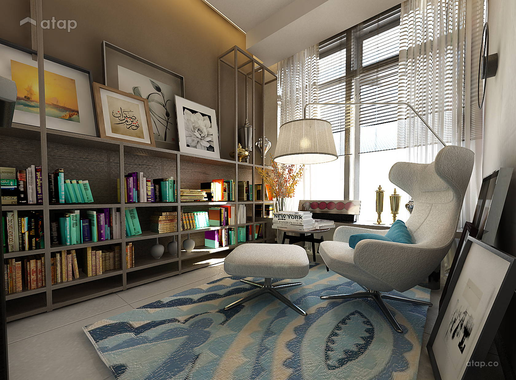 Contemporary Minimalistic Study Room @ 8 KINRARA SERVICE APARTMENT