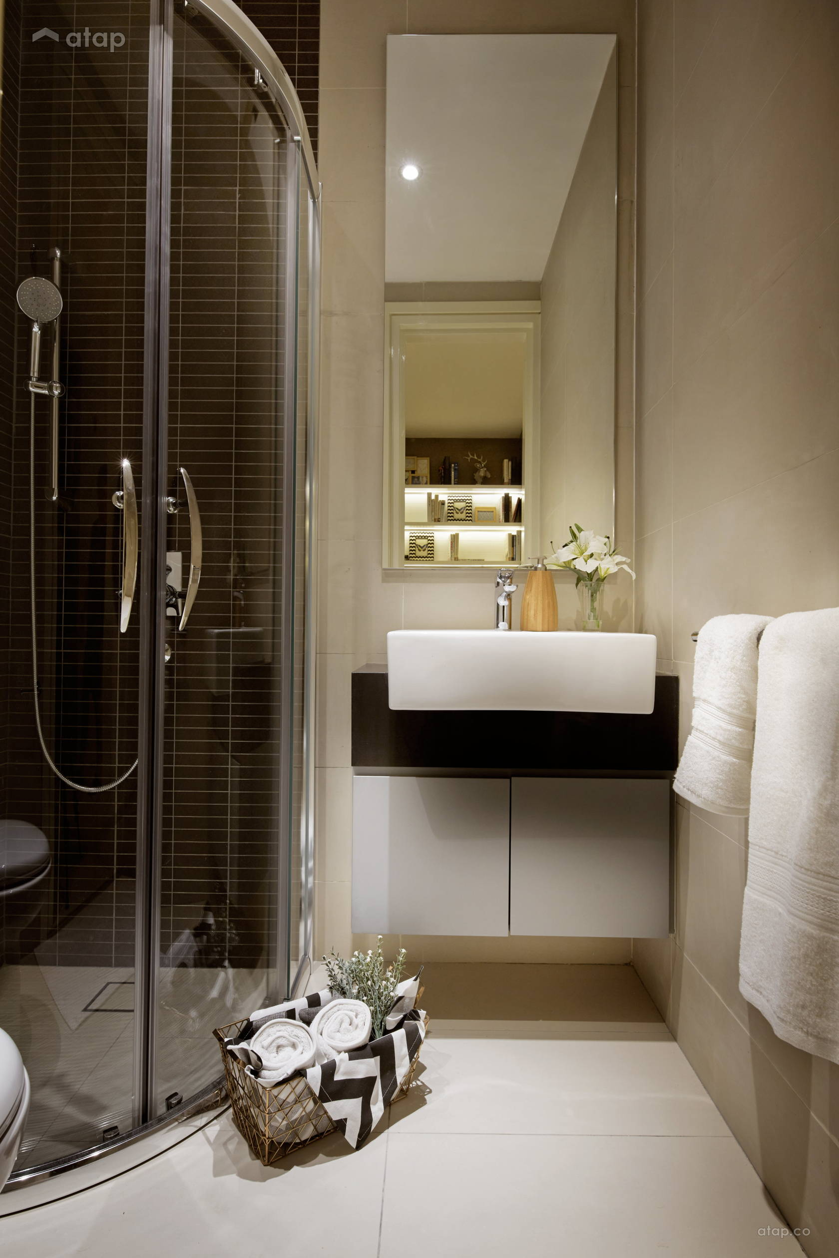 Contemporary Bathroom @ Sentral Suites Corner D