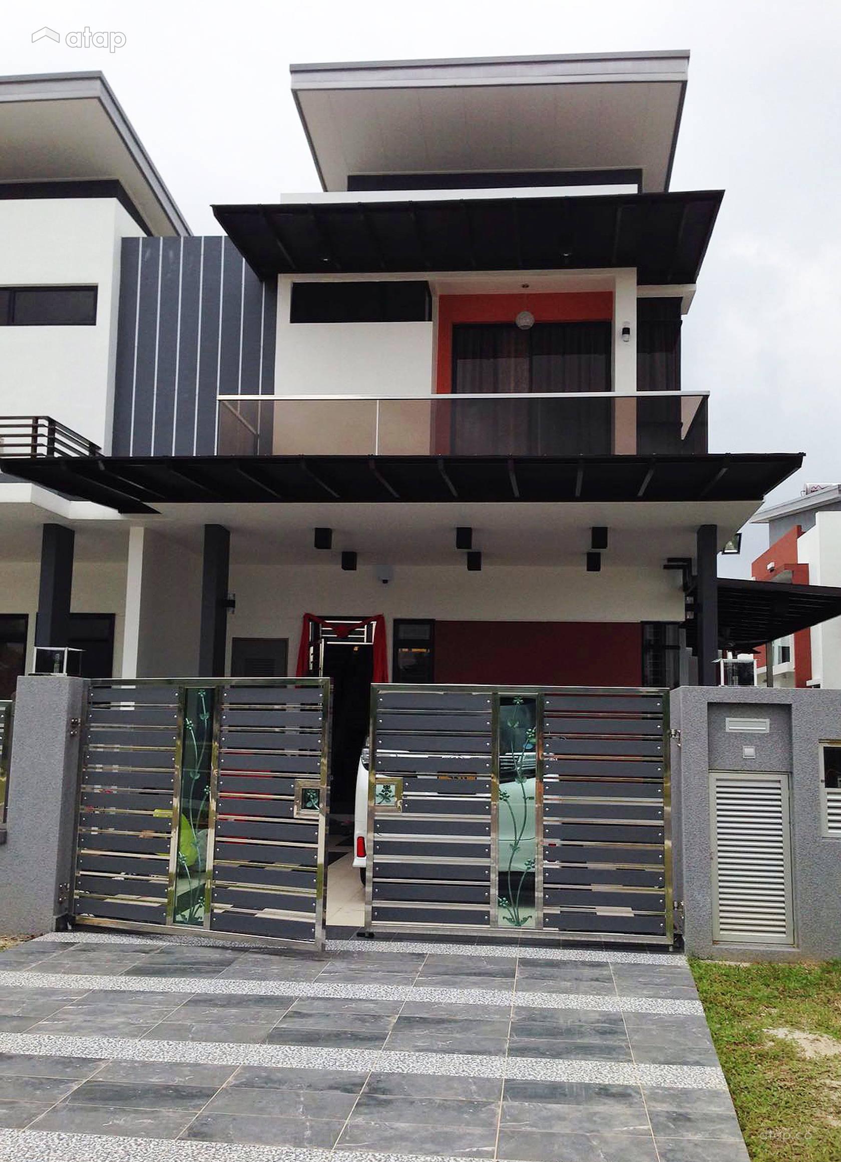 Home Design Ideas Malaysia: Classic Modern Balcony Exterior Semi-detached Design Ideas