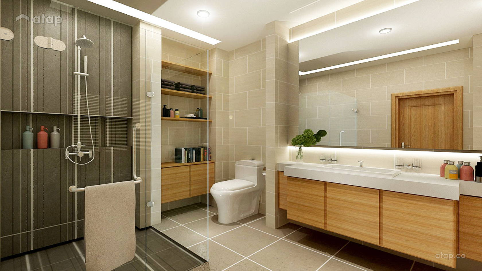 Modern Bathroom @ PERDANA HEIGHT SHAH ALAM BUNGALOW HOUSE