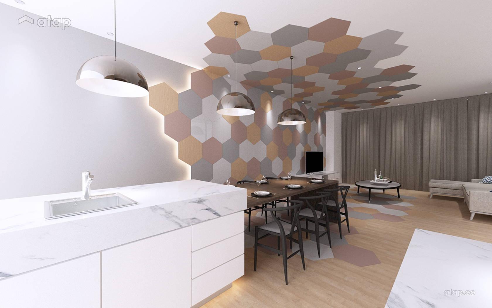 Contemporary Modern Kitchen Living Room @ Empire Residence 4 Storey Terrace @ Damansara Perdana
