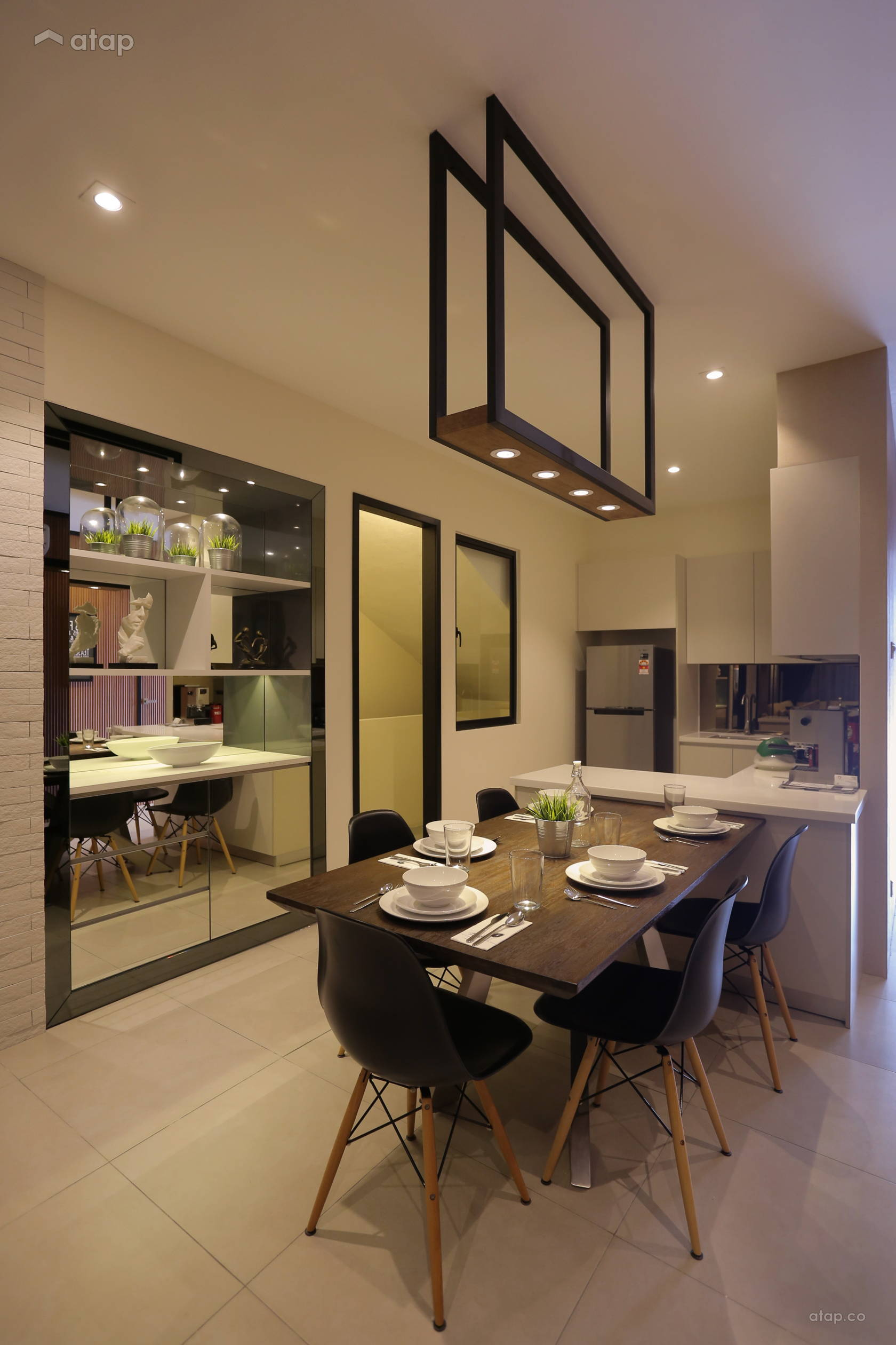 Modern Rustic Dining Room Kitchen @ D'Sands Show Unit Type C