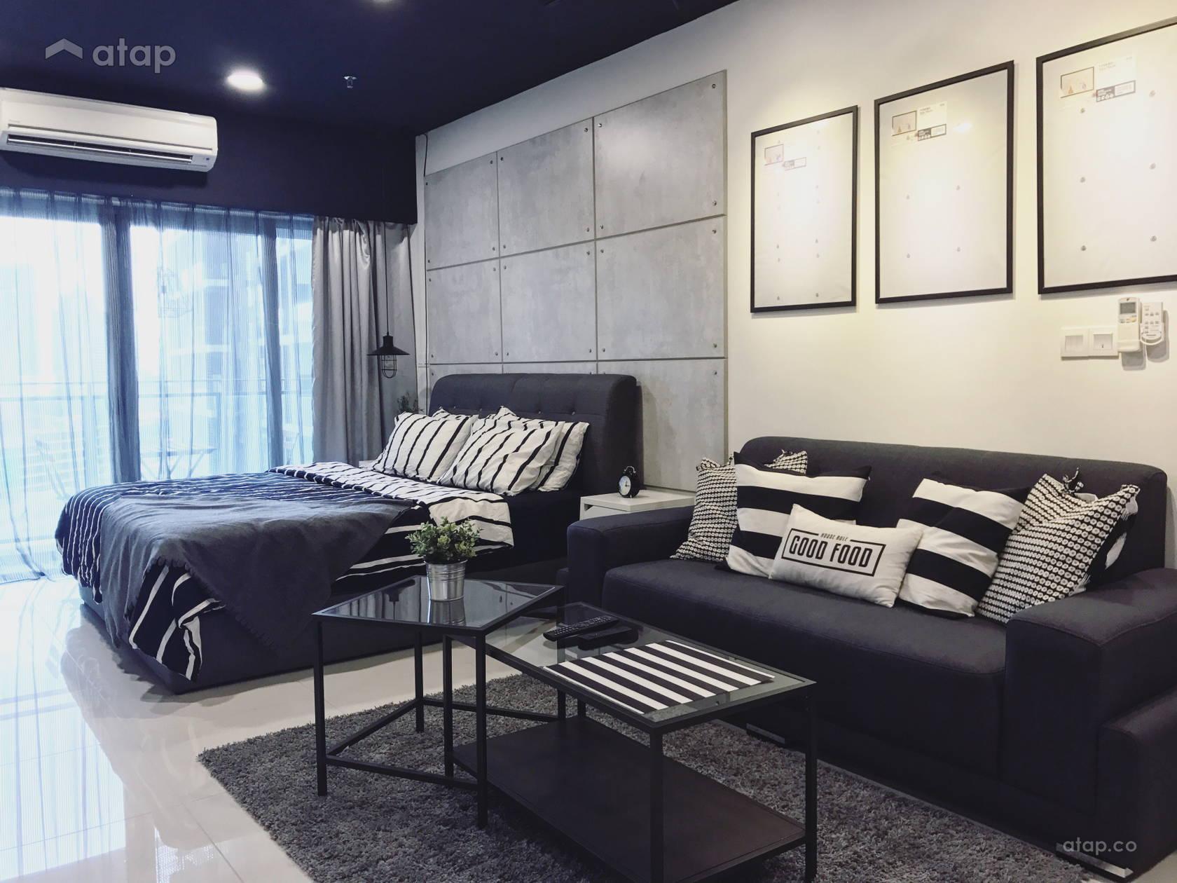 Industrial Minimalistic Bedroom Living Room @ Mercu Summer Suites