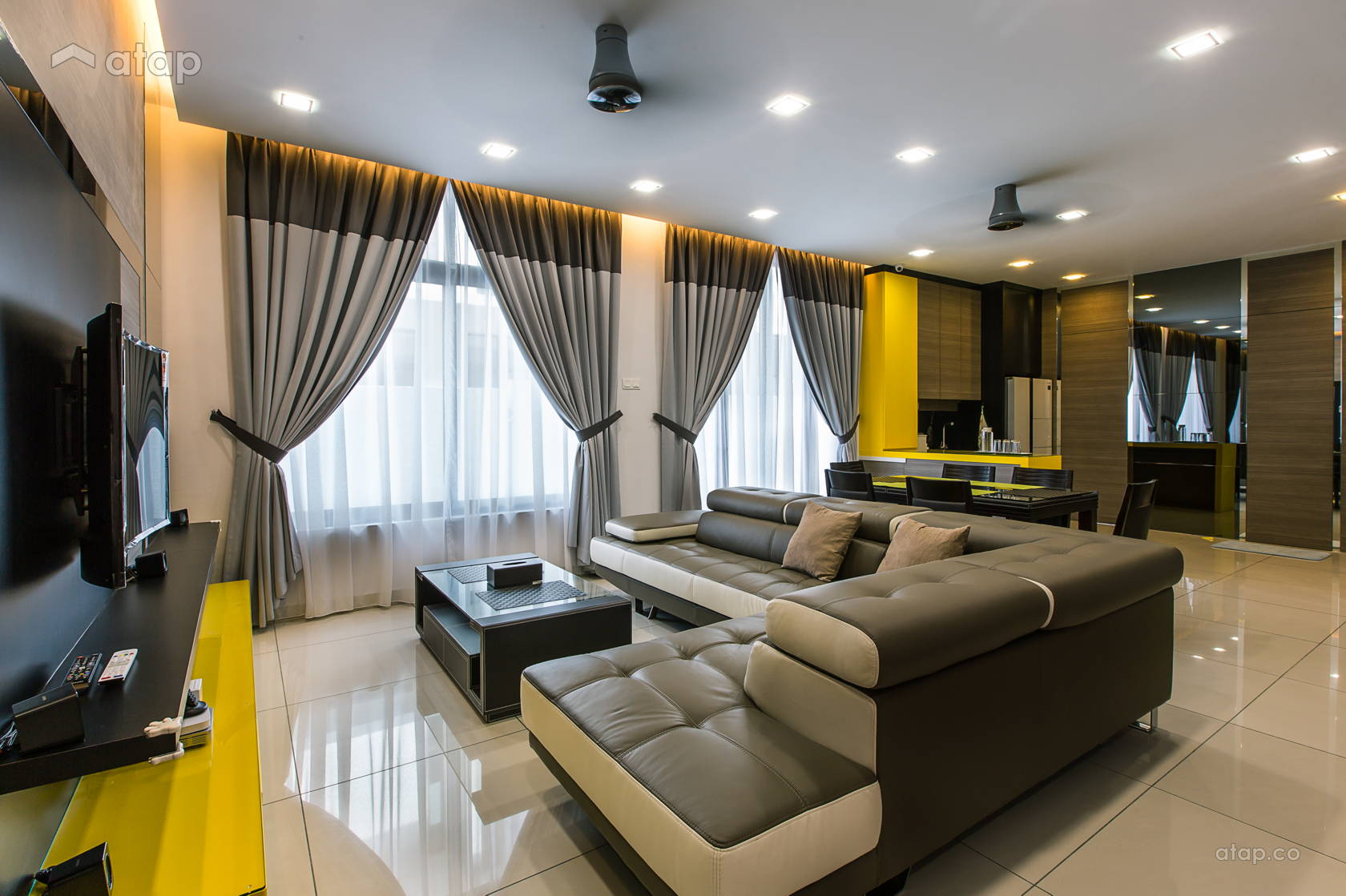 Contemporary Modern Living Room @ Adda Height, Johor Bahru (2)