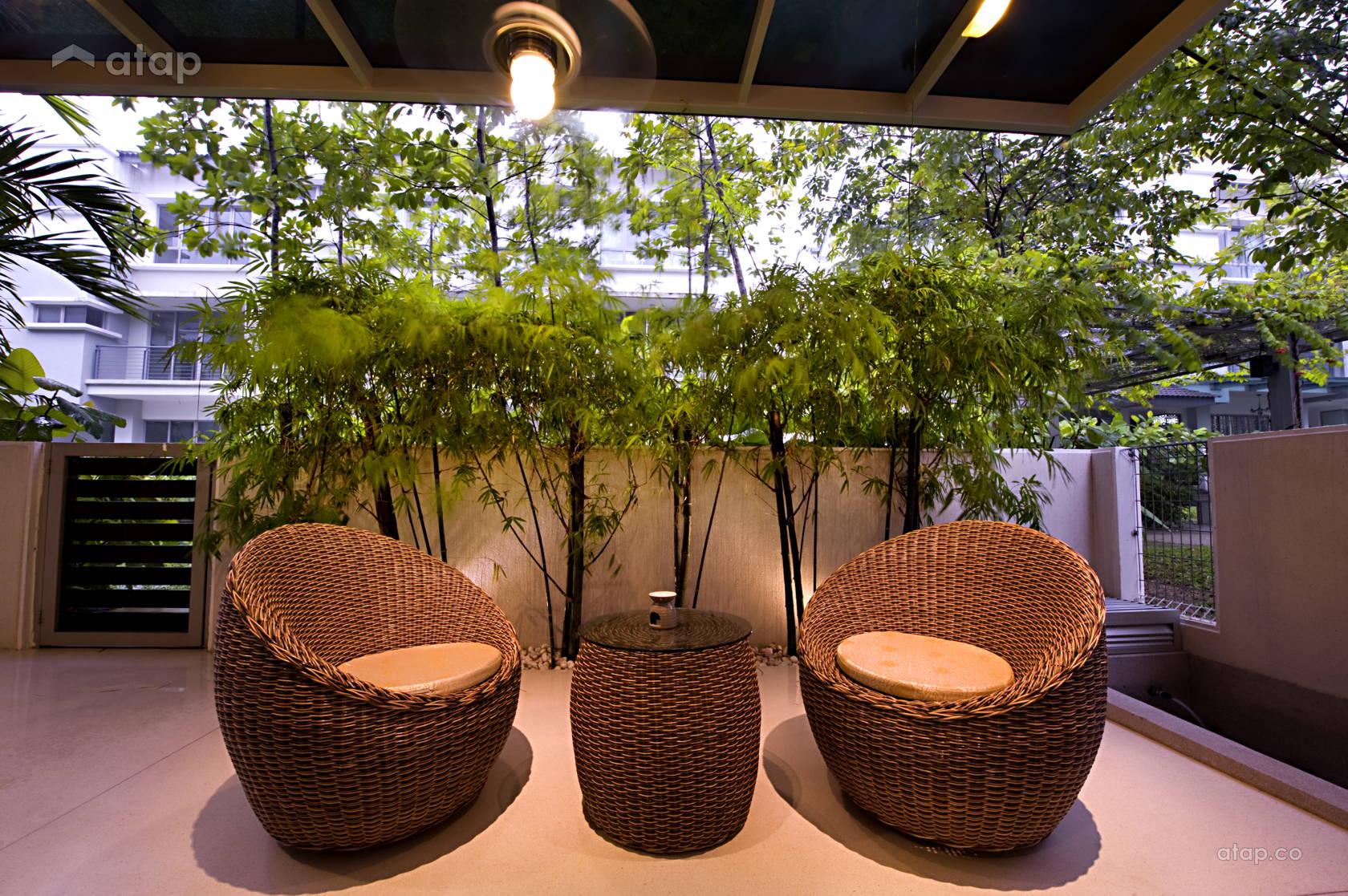Modern Balcony Garden terrace design ideas & photos Malaysia  Atap.co