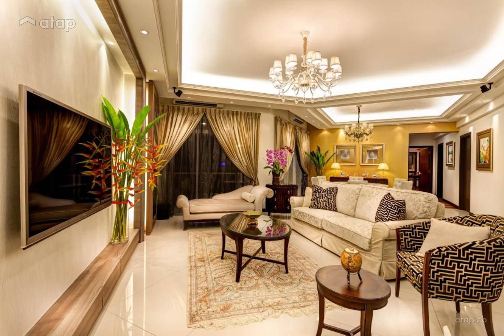 Contemporary modern dining room balcony condominium design for Balcony design ideas malaysia