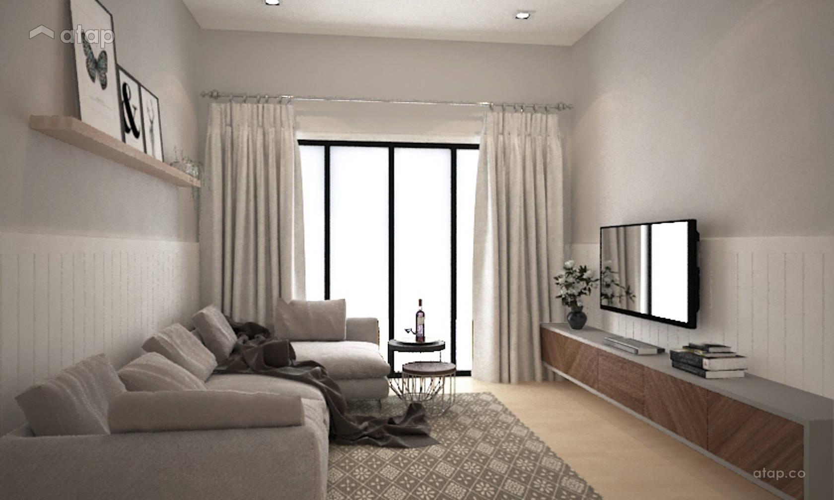 Minimalistic Modern Living Room @ Bayu Villa Bungalow