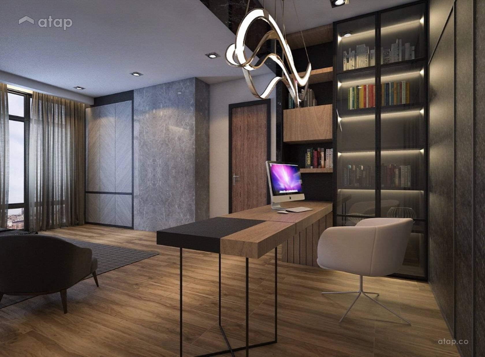 Classic modern study room semi detached design ideas - Modern study room ideas ...