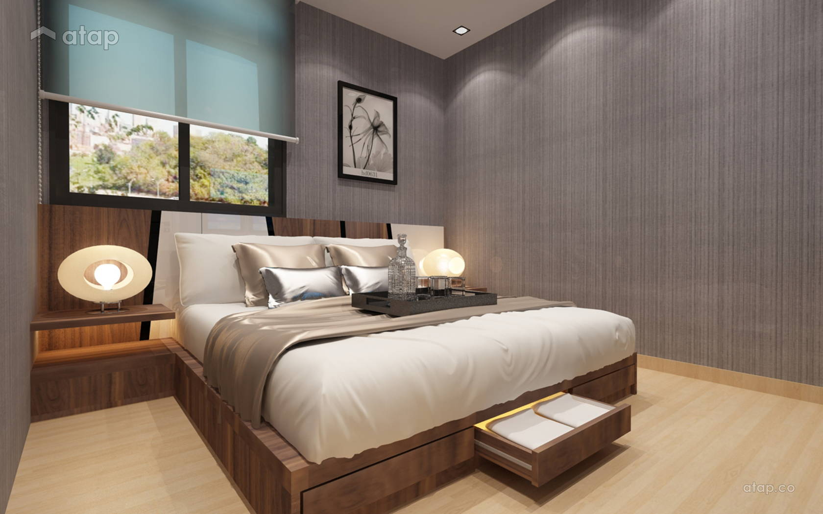 Minimalistic Modern Bedroom @ Project At Permas Bayu Puteri 1