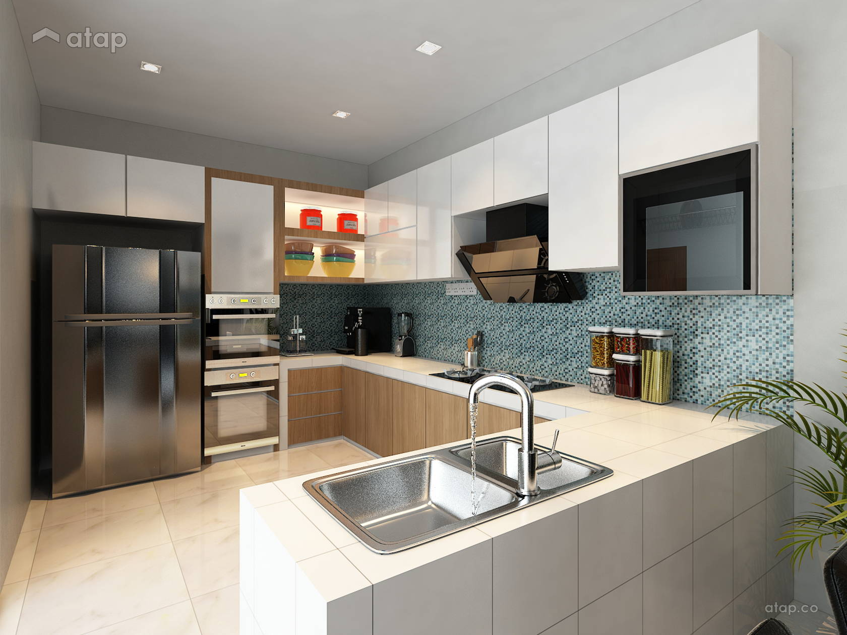 Minimalistic Modern Kitchen @ Project At Mutiara Mas 3