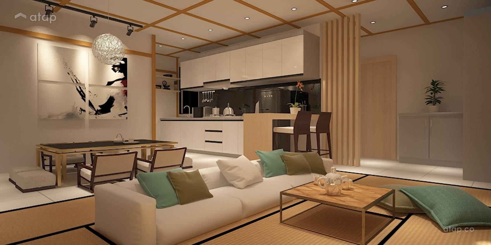 Zen Living Room apartment design ideas & photos Malaysia  Atap.co