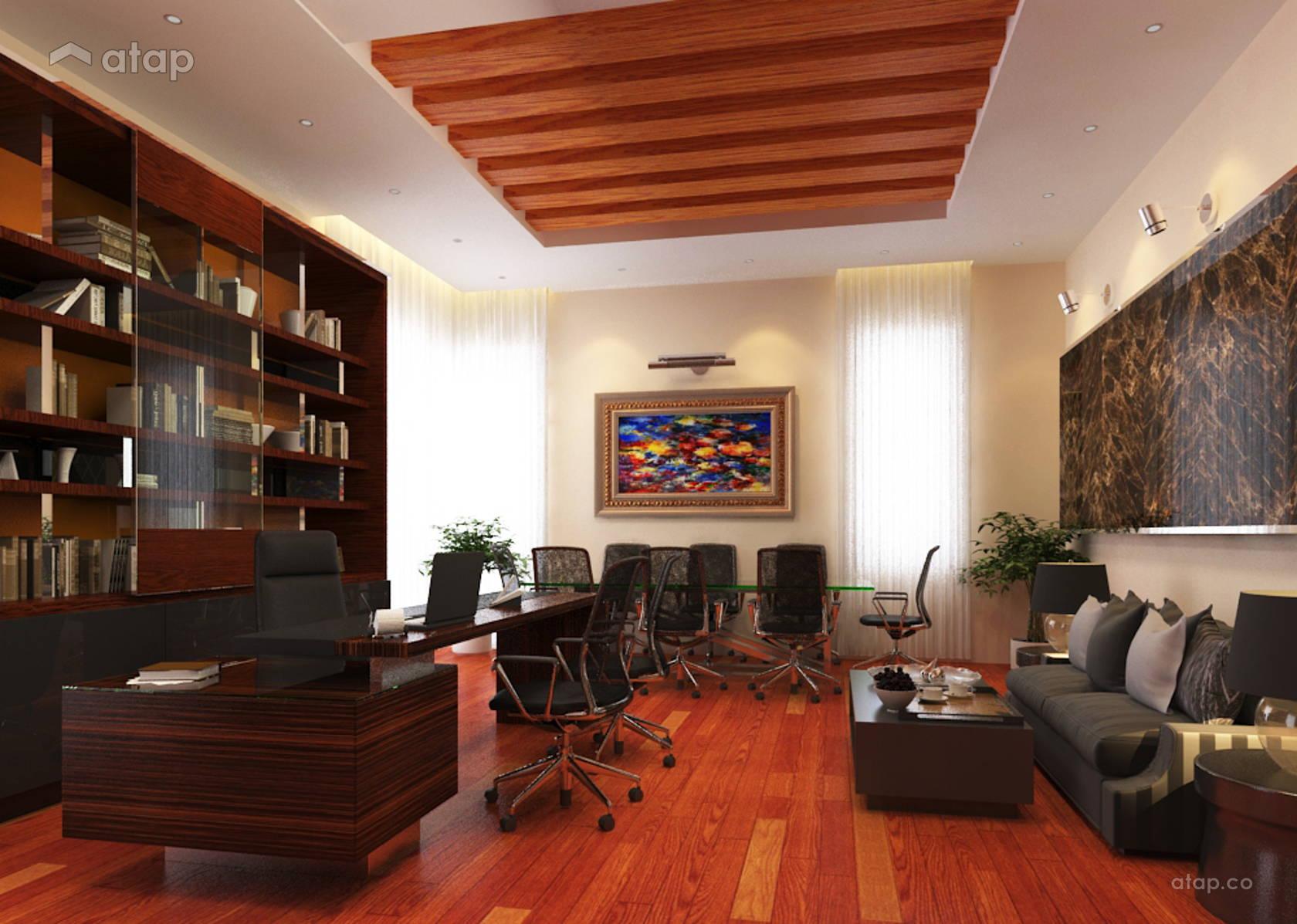 Contemporary Modern Family Room Study Room Bungalow Design Ideas Photos Malaysia Atap Co