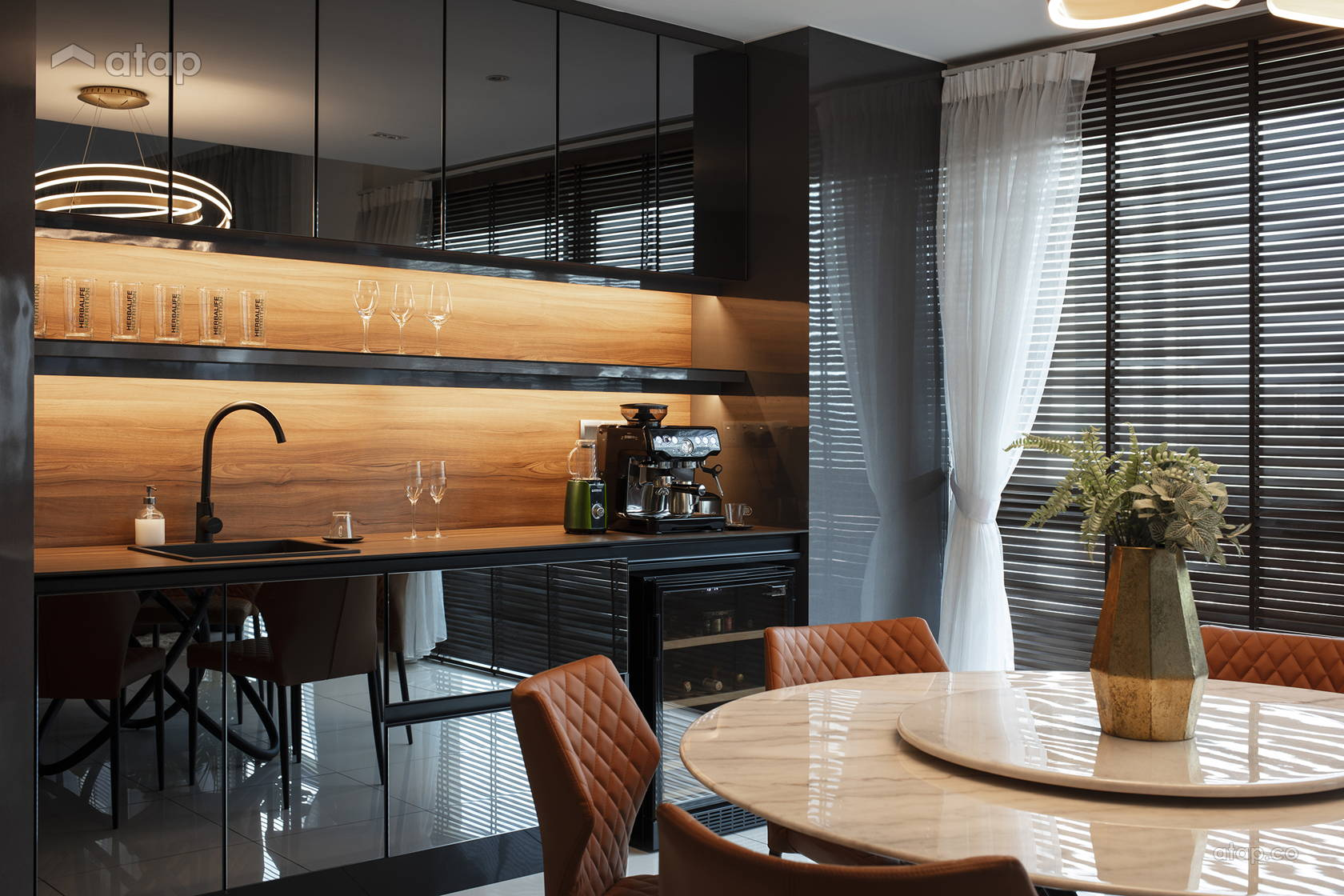 Contemporary Modern Dining Room Kitchen @ Manhattan Chic
