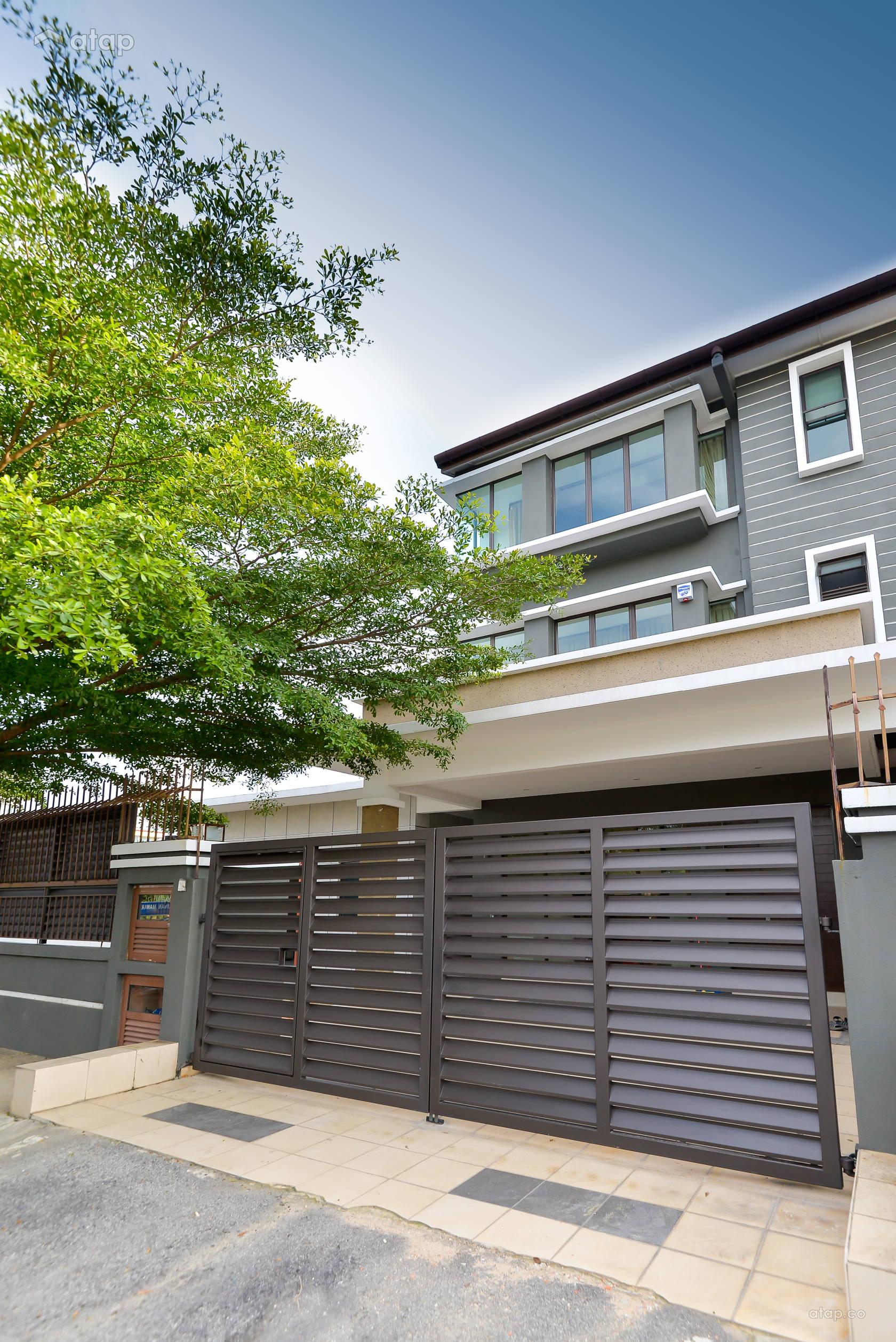 Contemporary Exterior @ 3 Storey Corner Terrace @ Laman Rimbunan , Kepong