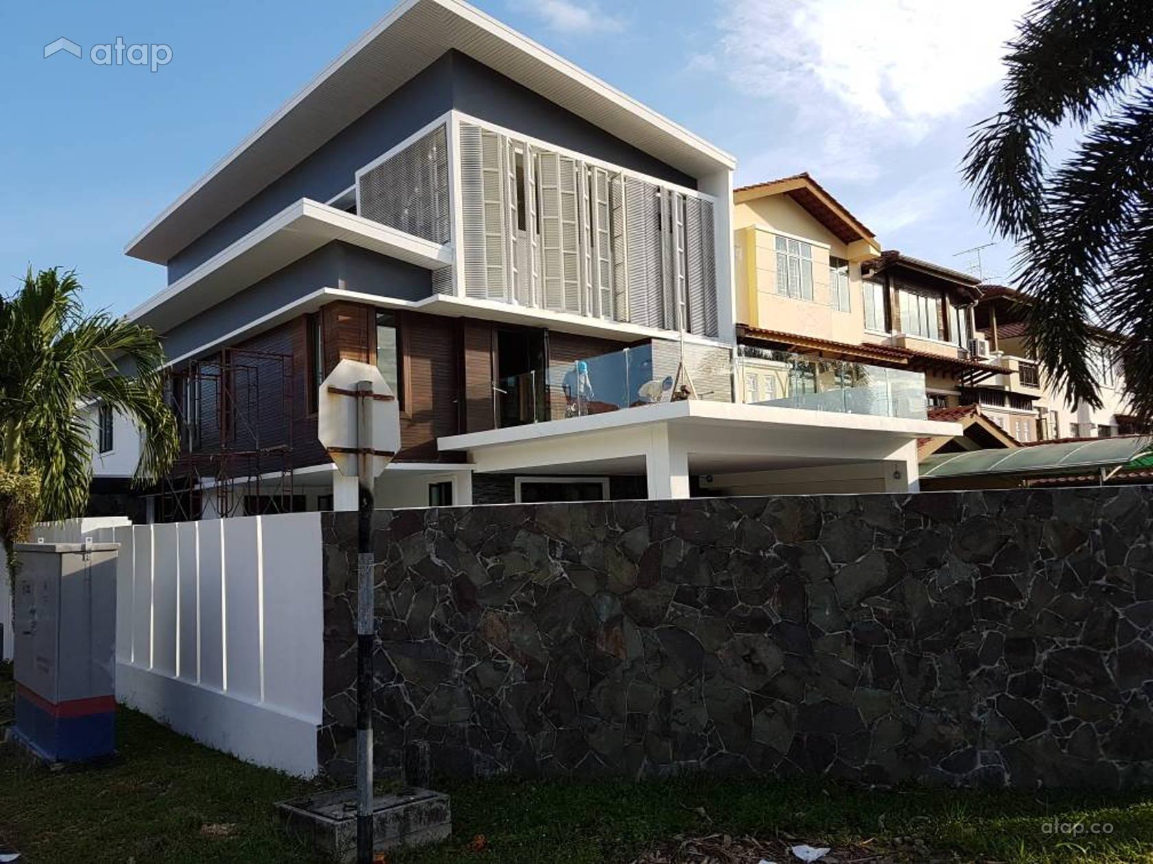 Minimalistic Exterior terrace design ideas & photos Malaysia | Atap co