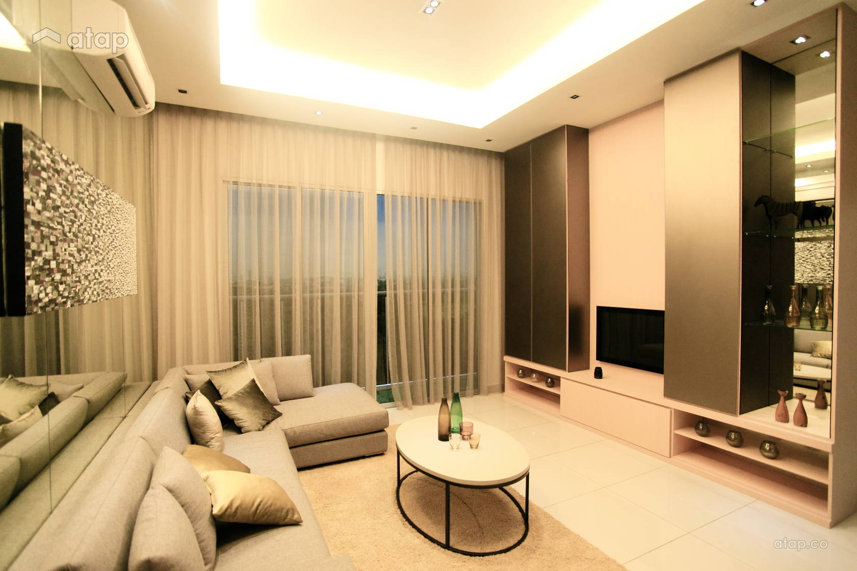 Asian Modern Living Room @ Vida Heights-Bandar Baru Uda