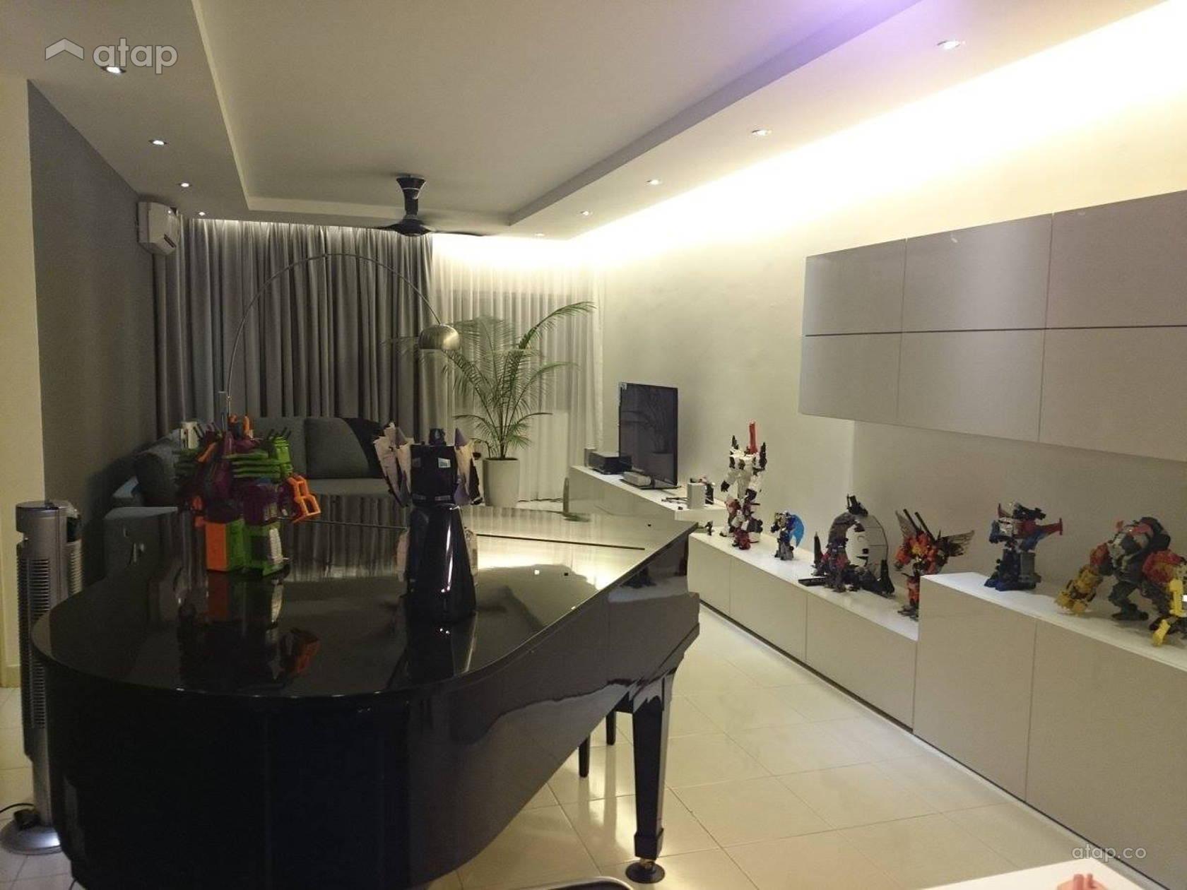 Minimalistic Living Room condominium design ideas & photos Malaysia ...
