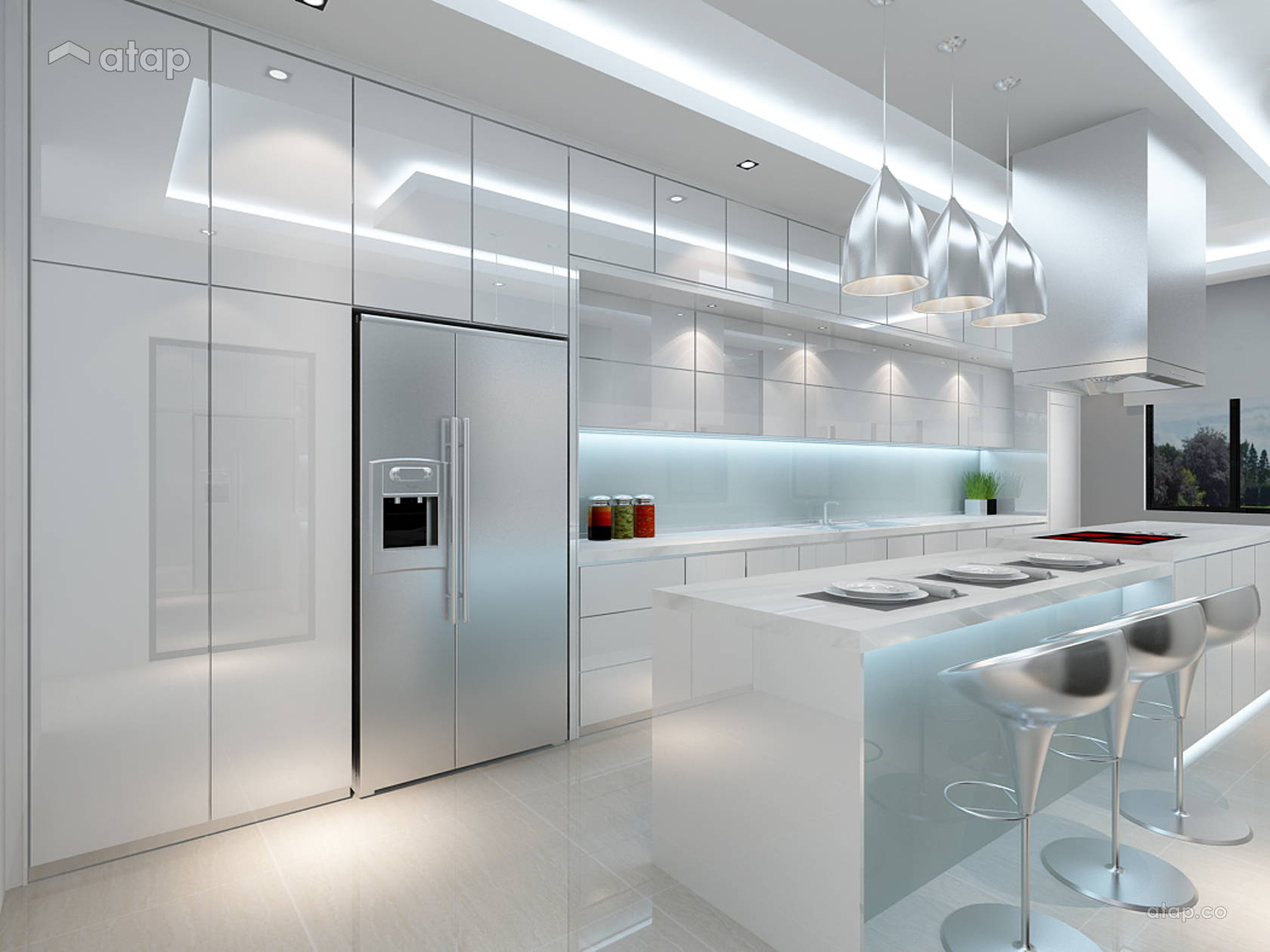 Contemporary Modern Kitchen @ Taman Adda Height