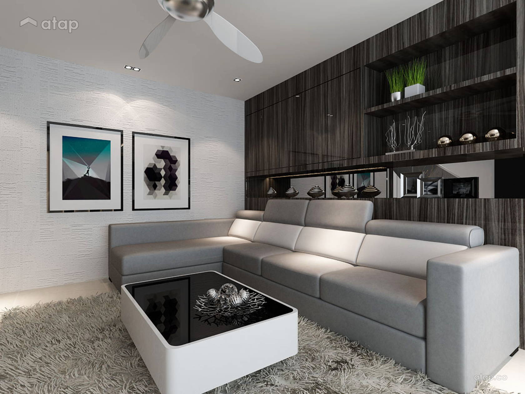 Asian Contemporary Living Room @ Taman Adda Height