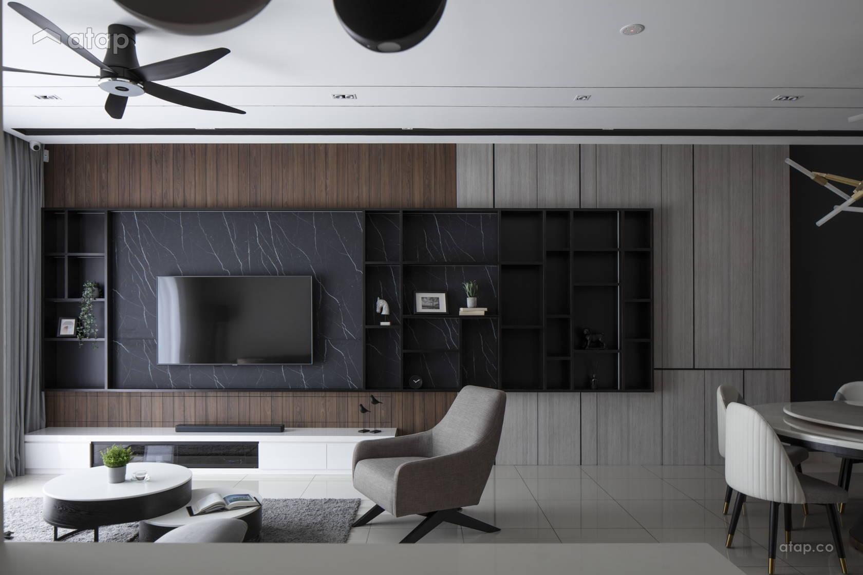 Minimalistic Modern Living Room @ THE LIVIA - Tropicana Aman , Bayan Residences.