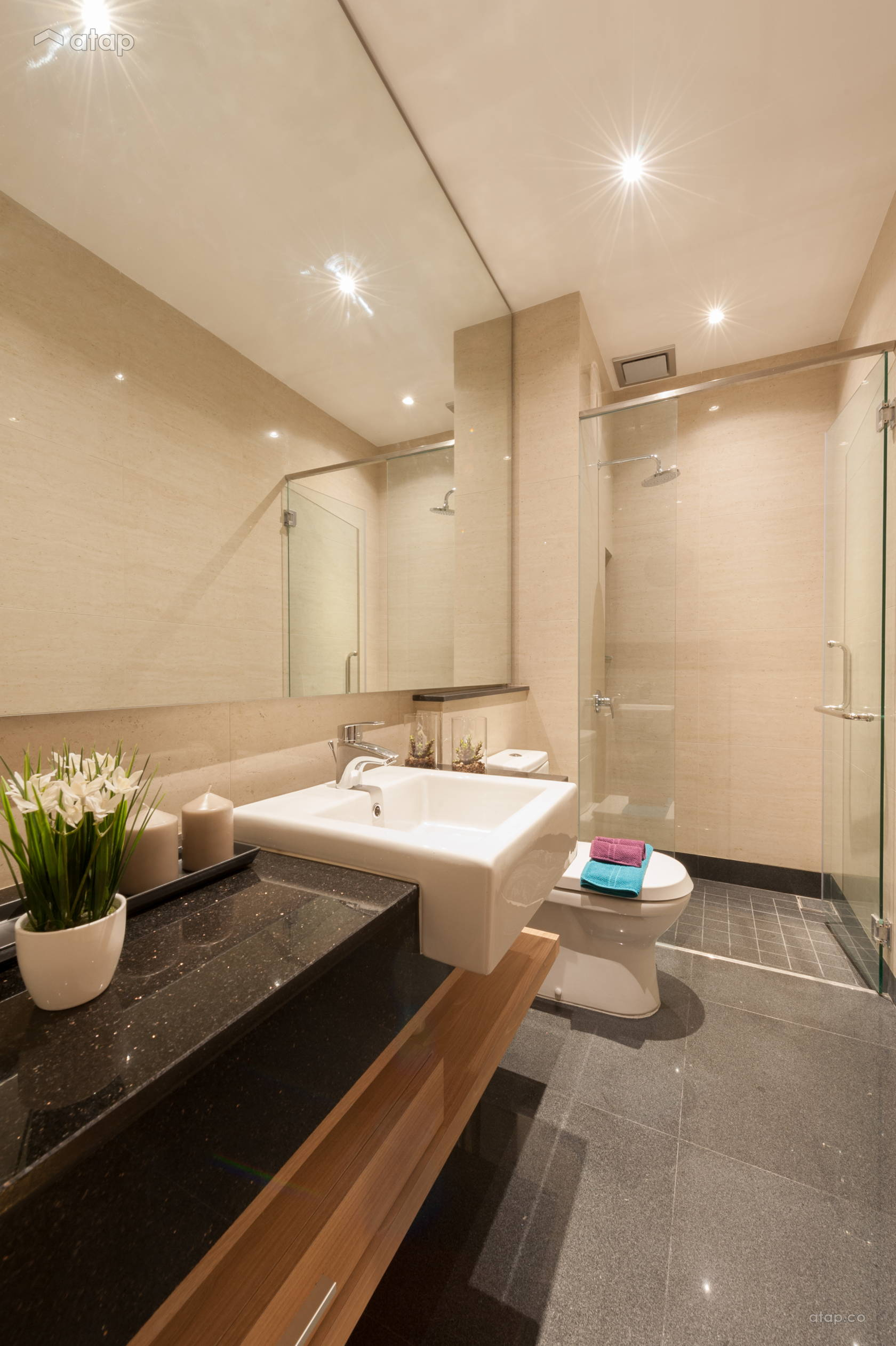 Contemporary Modern Bathroom @ 100 Residency Type B Show Unit for Kerjaya Prospek Group