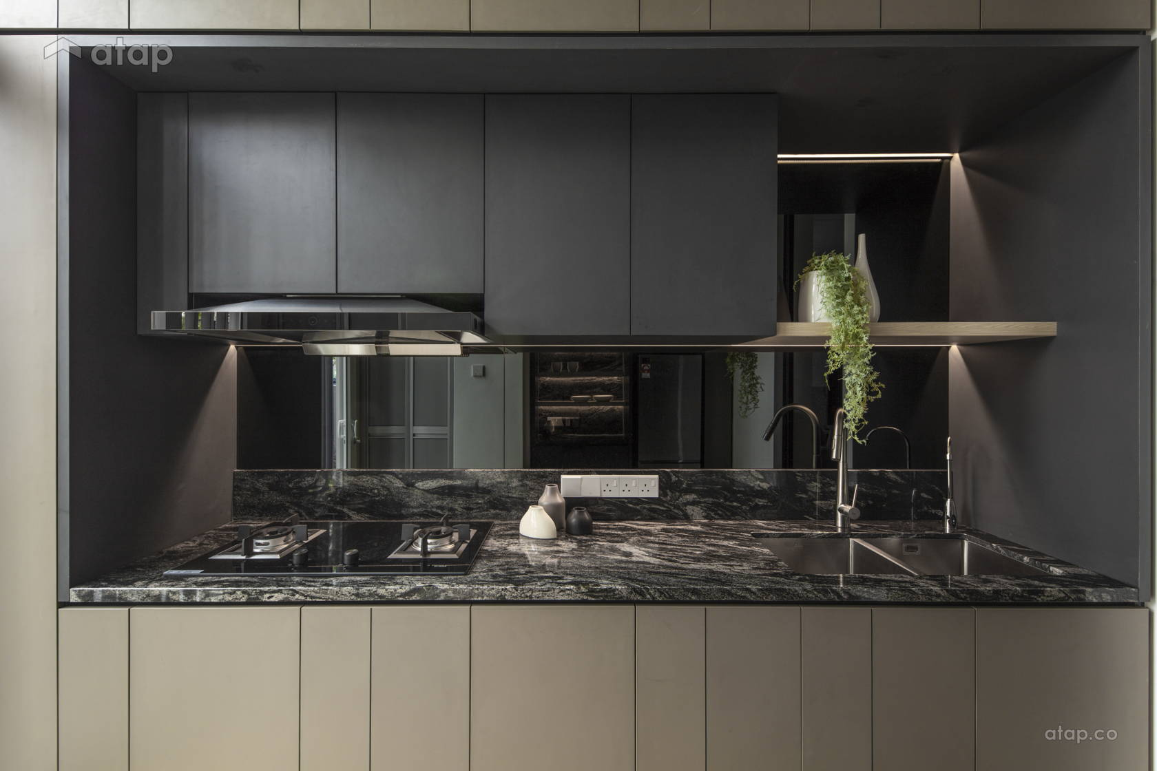 Contemporary Minimalistic Kitchen @ The Lighthaus - Andes Villa