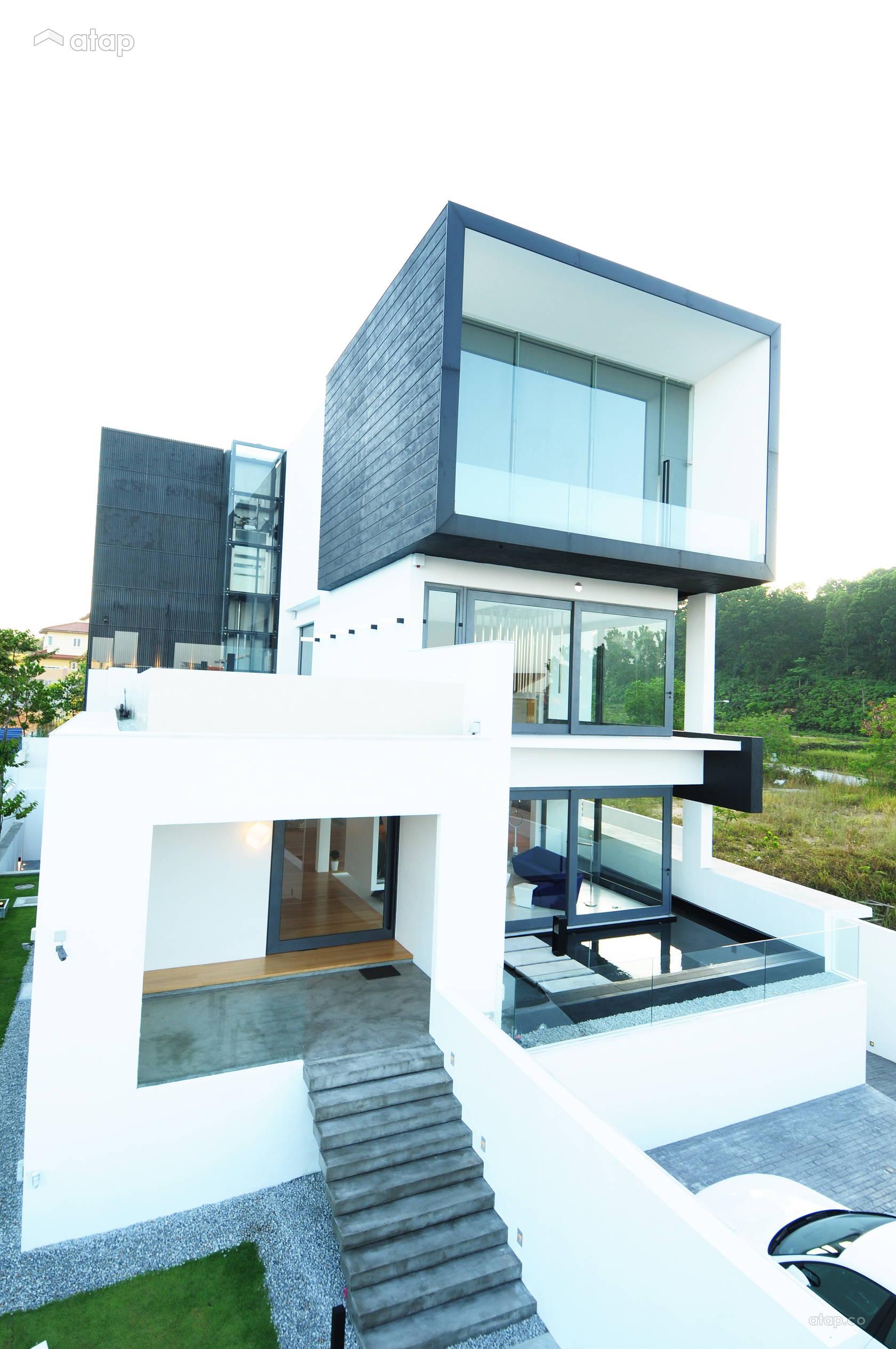 Modern Foyer Garden Bungalow Design Ideas Photos Malaysia Atap Co