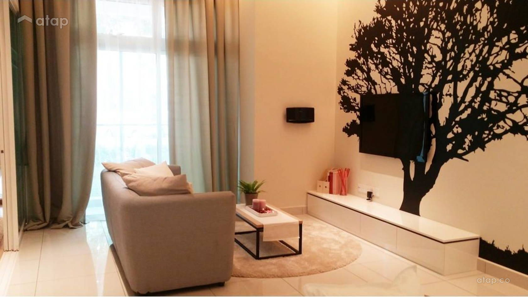 Minimalistic Living Room @ Adda Heights Show Unit (1A)