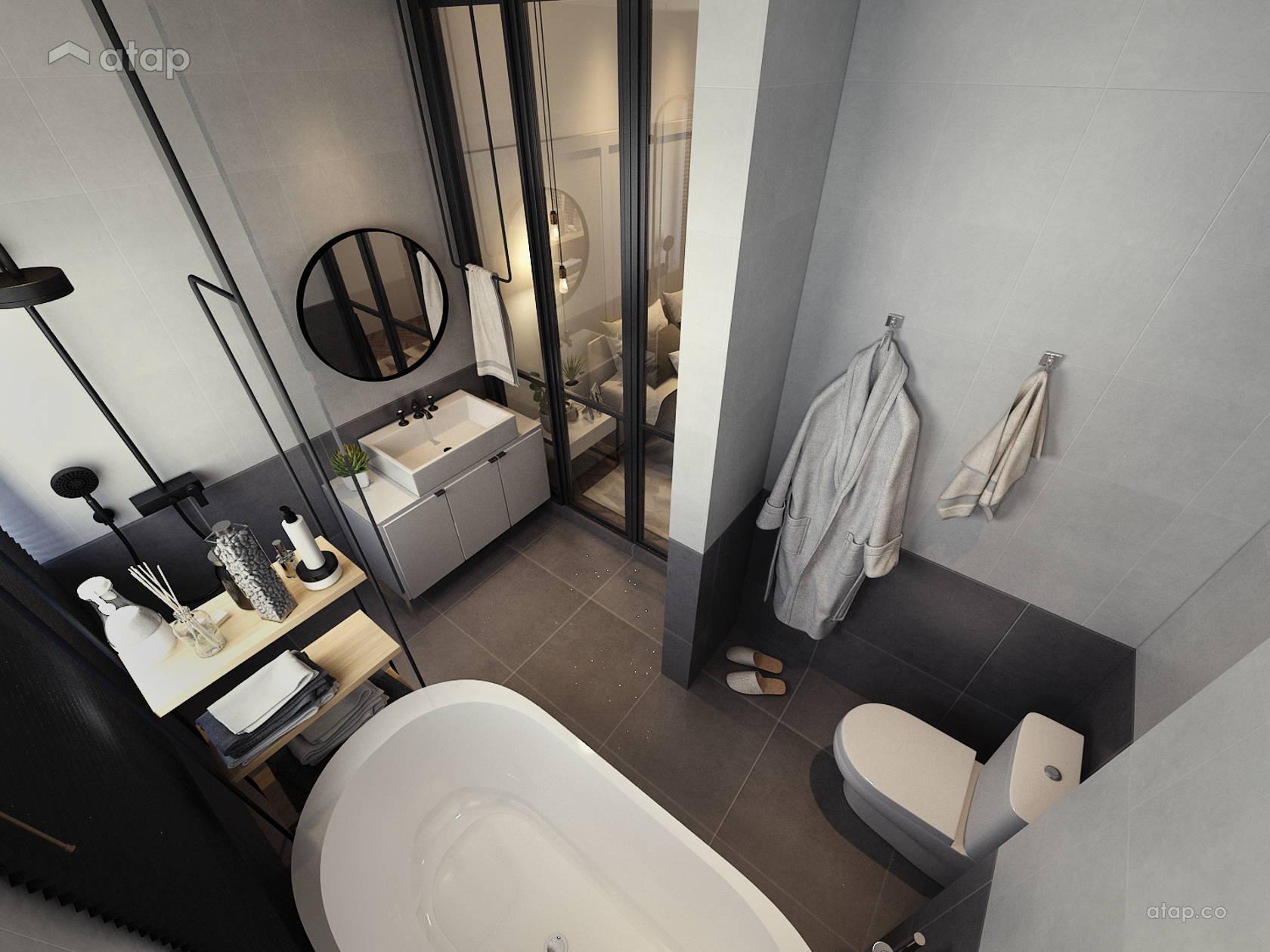 Modern Scandinavian Bathroom @ condominium Kajang, Selangor