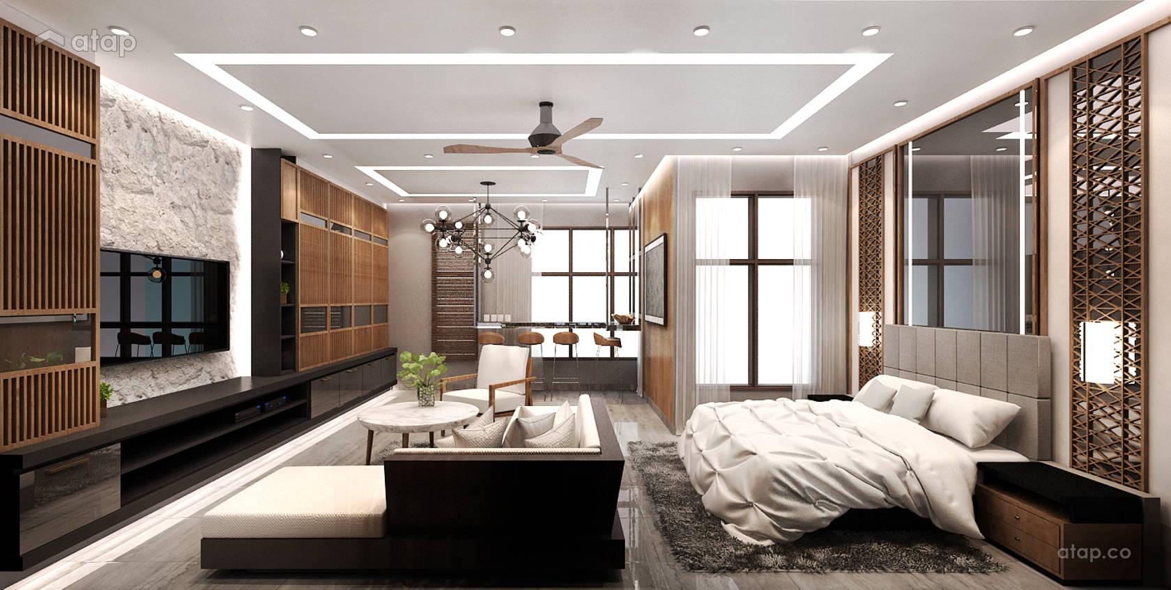 Contemporary modern dining room study room condominium - Modern study room ideas ...