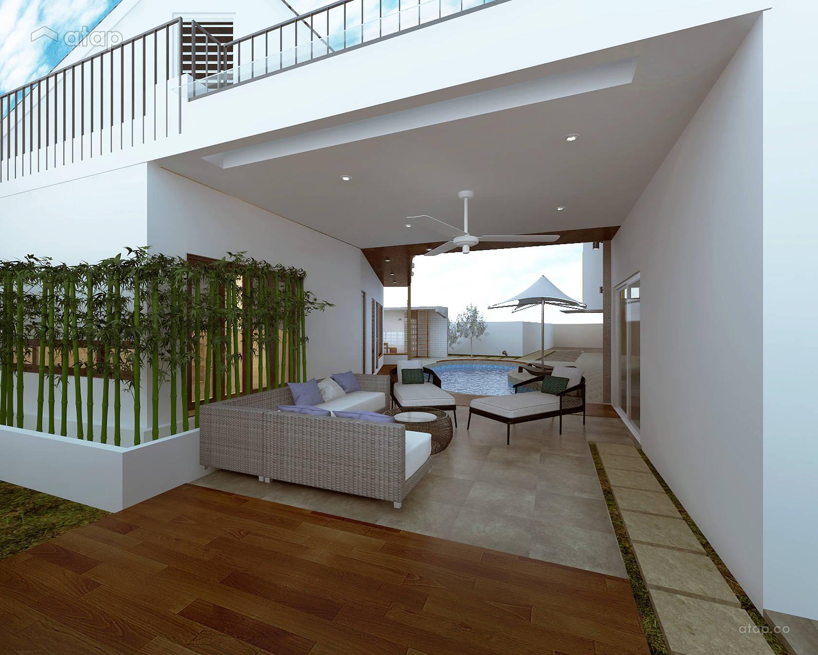 Contemporary Modern Exterior @ Mazelan Bungalow - (Ginormous Modern Fusion Bungalow.)