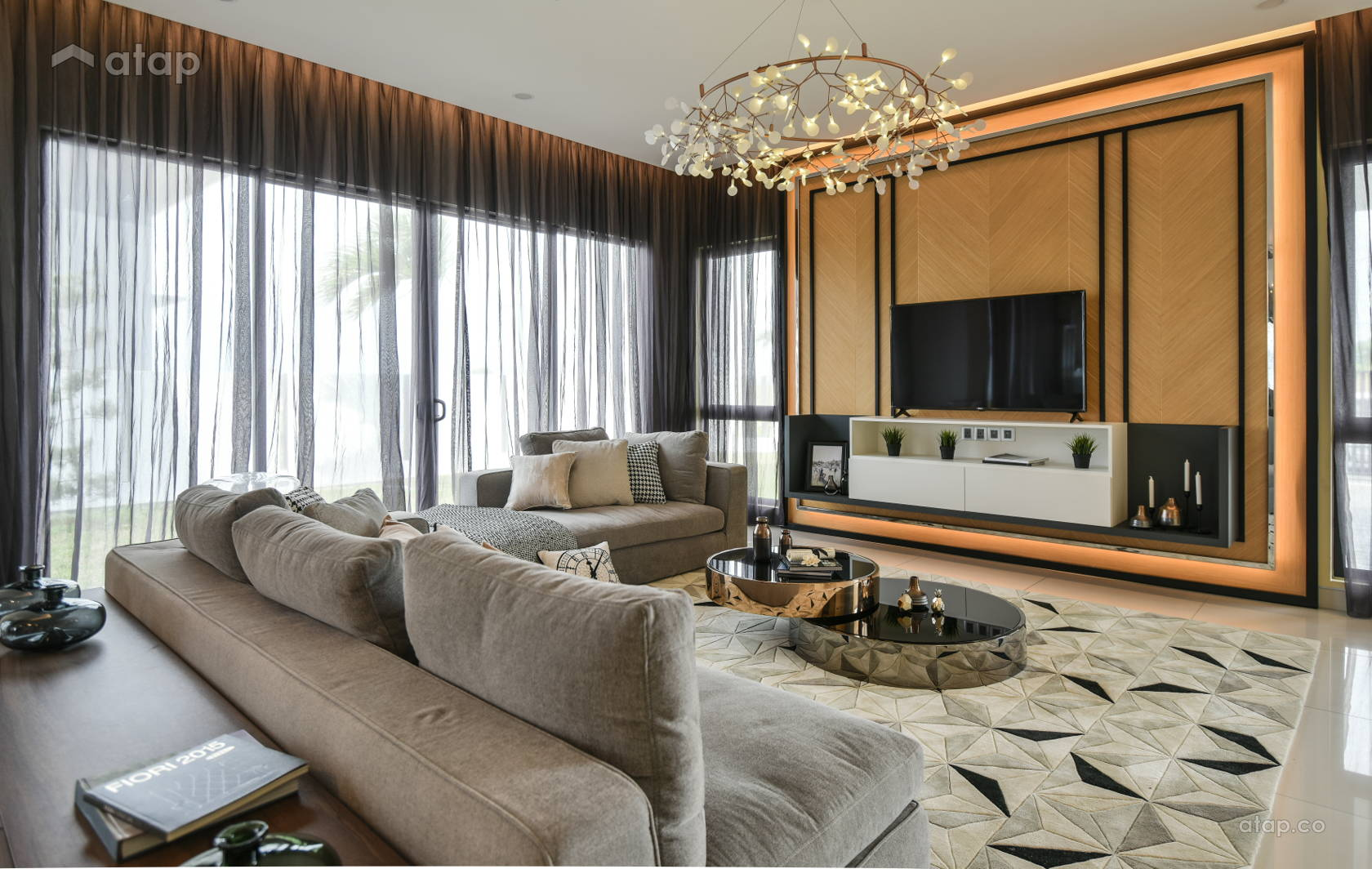 Contemporary Modern Living Room @ Kepayang Haven