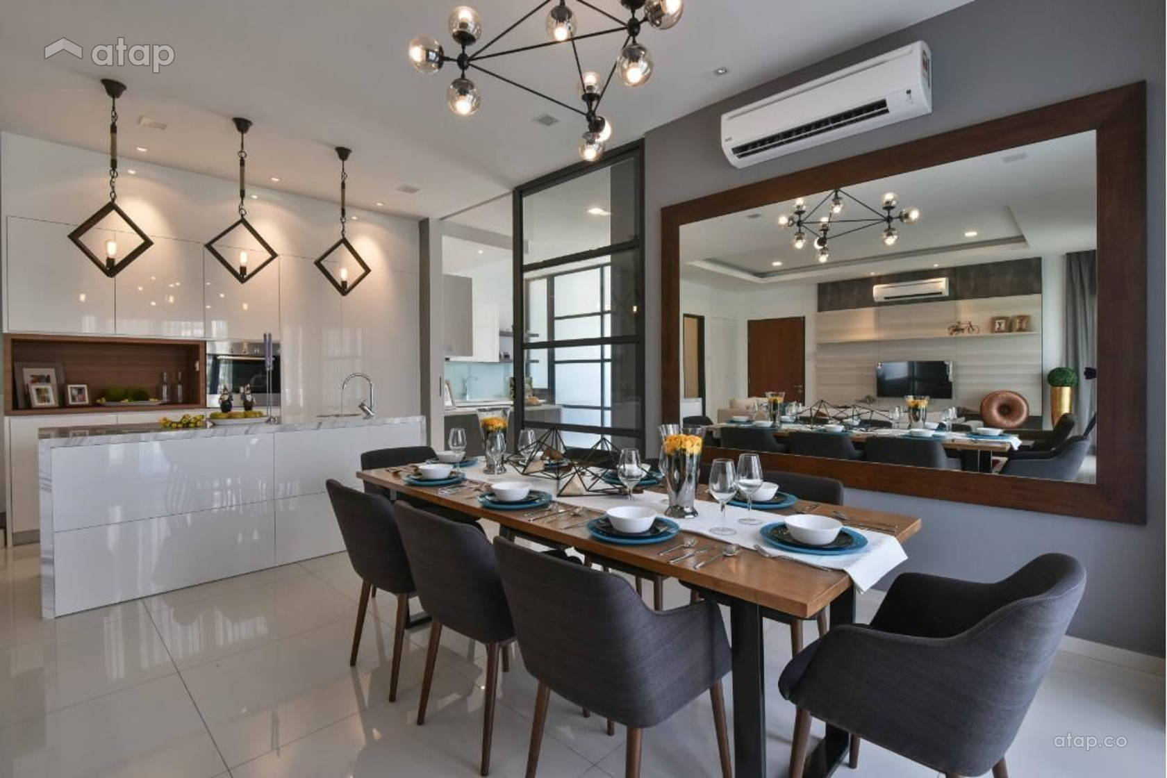 Contemporary Modern Kitchen Dining Room @ MKH Kajang East