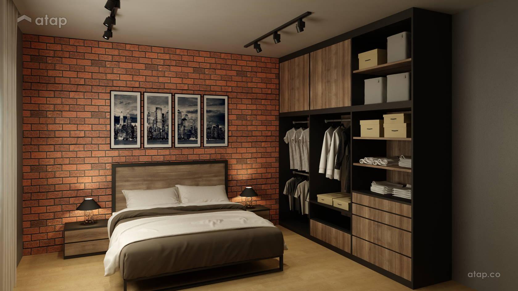 Industrial Minimalistic Bedroom Semi Detached Design Ideas
