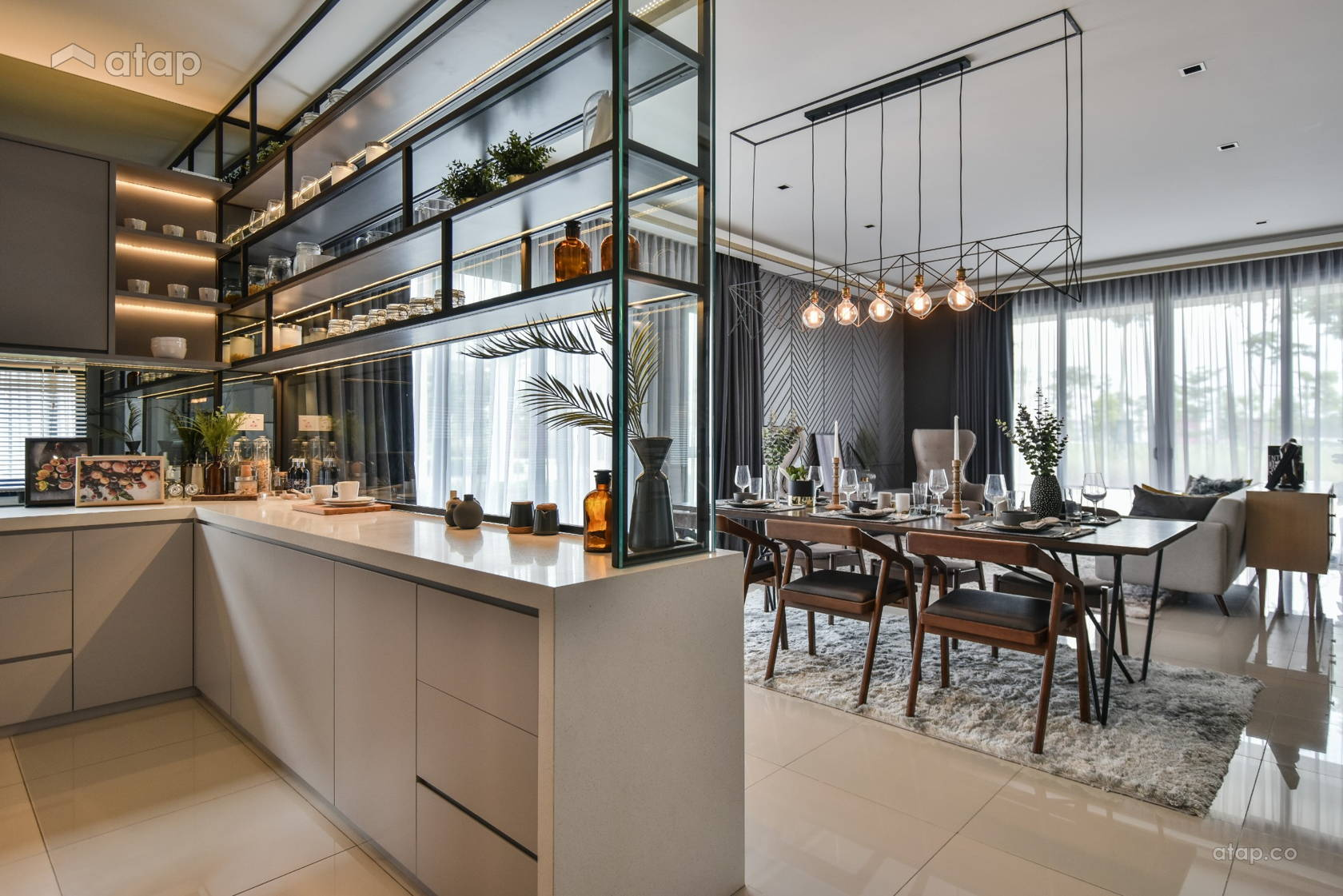 Contemporary Dining Room Kitchen @ Gable @ TwentyFive.7