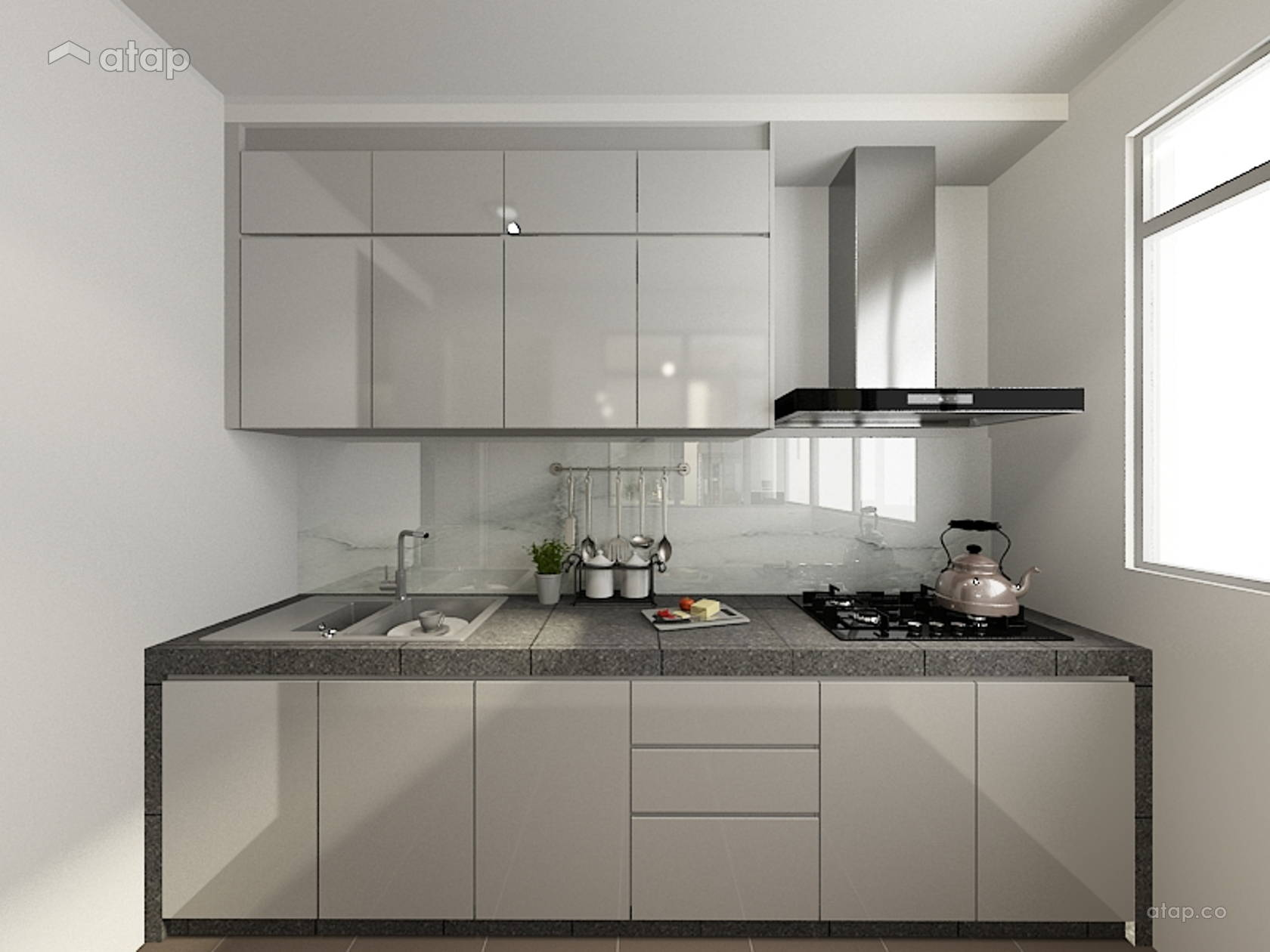 Minimalistic Kitchen @ Kiara Residence 1