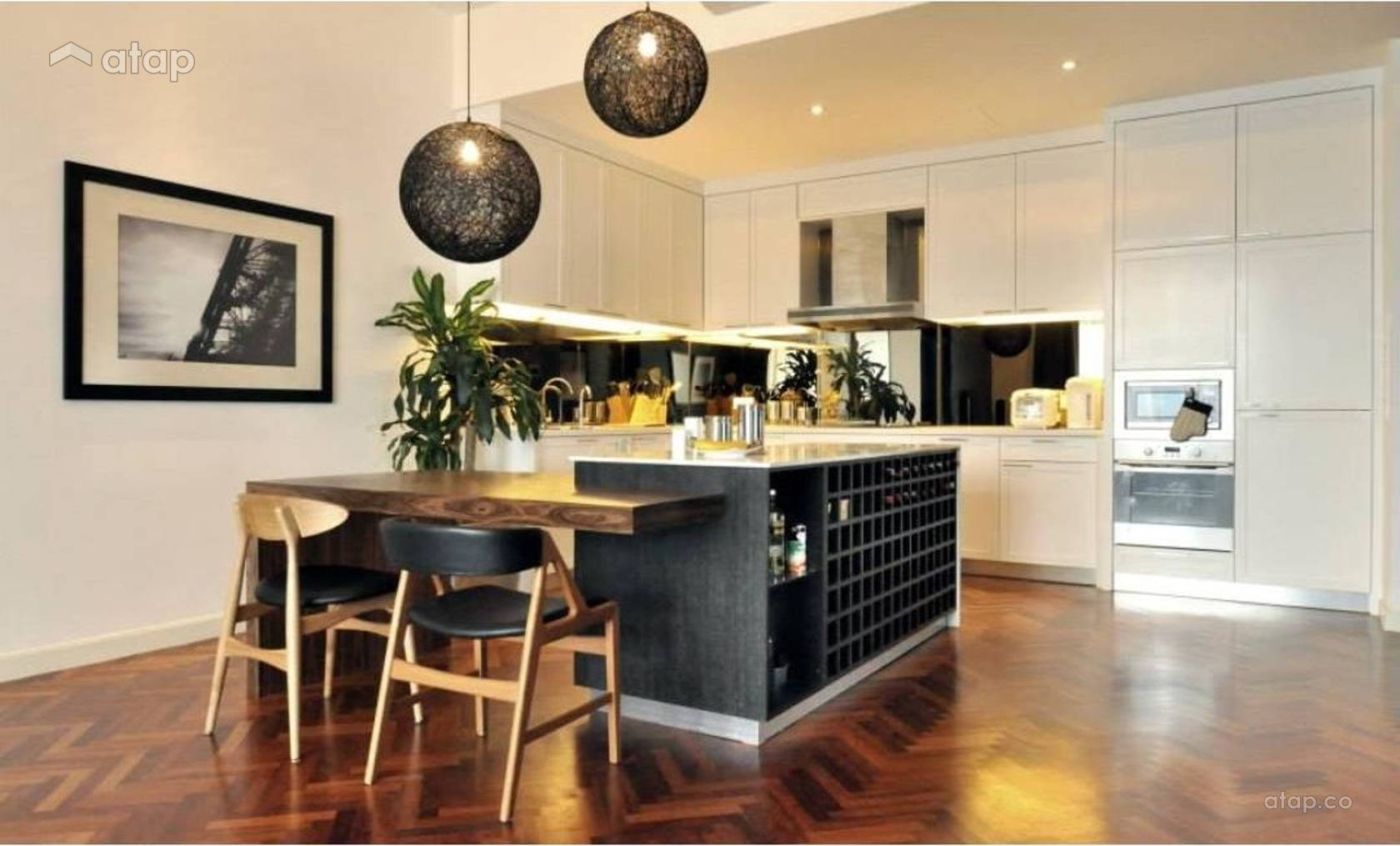 Contemporary Modern Dining Room Kitchen @ Quayside Condominium Type A