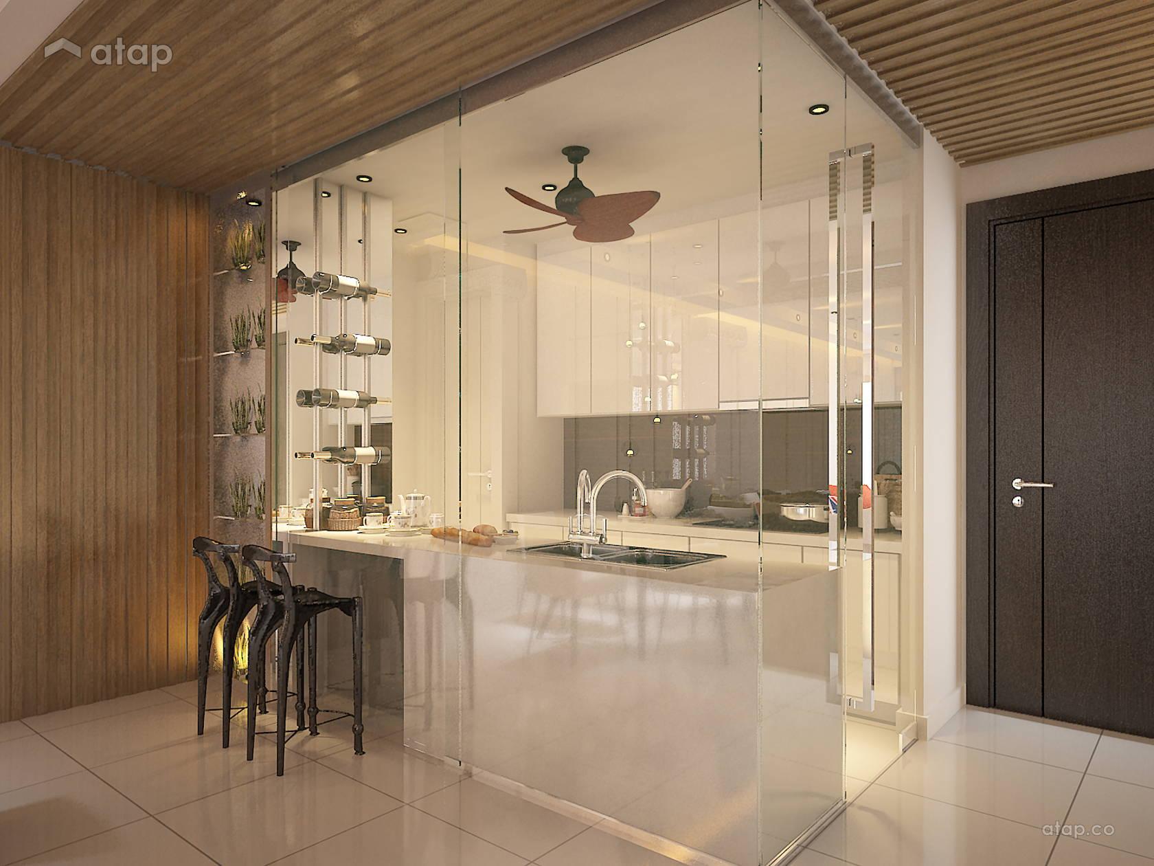 Asian Modern Kitchen @ One Central Park Condo
