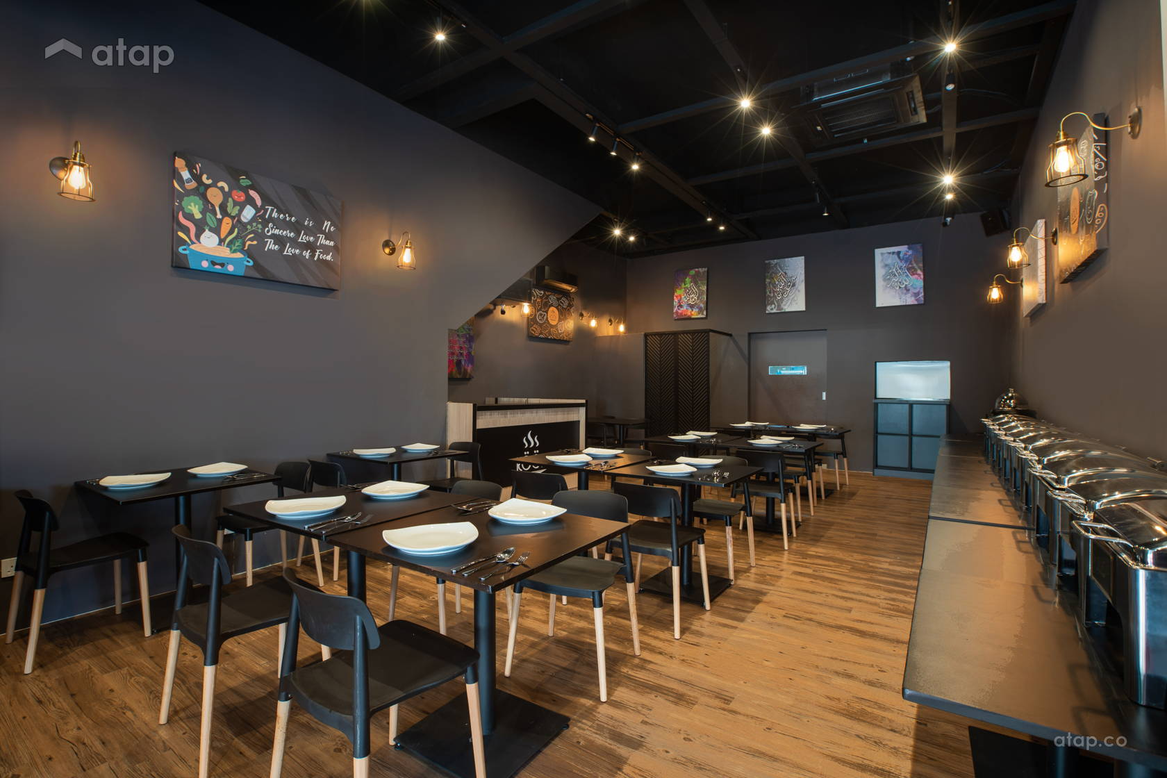 Modern Dining Room Shophouse Design Ideas Photos Malaysia Atap Co
