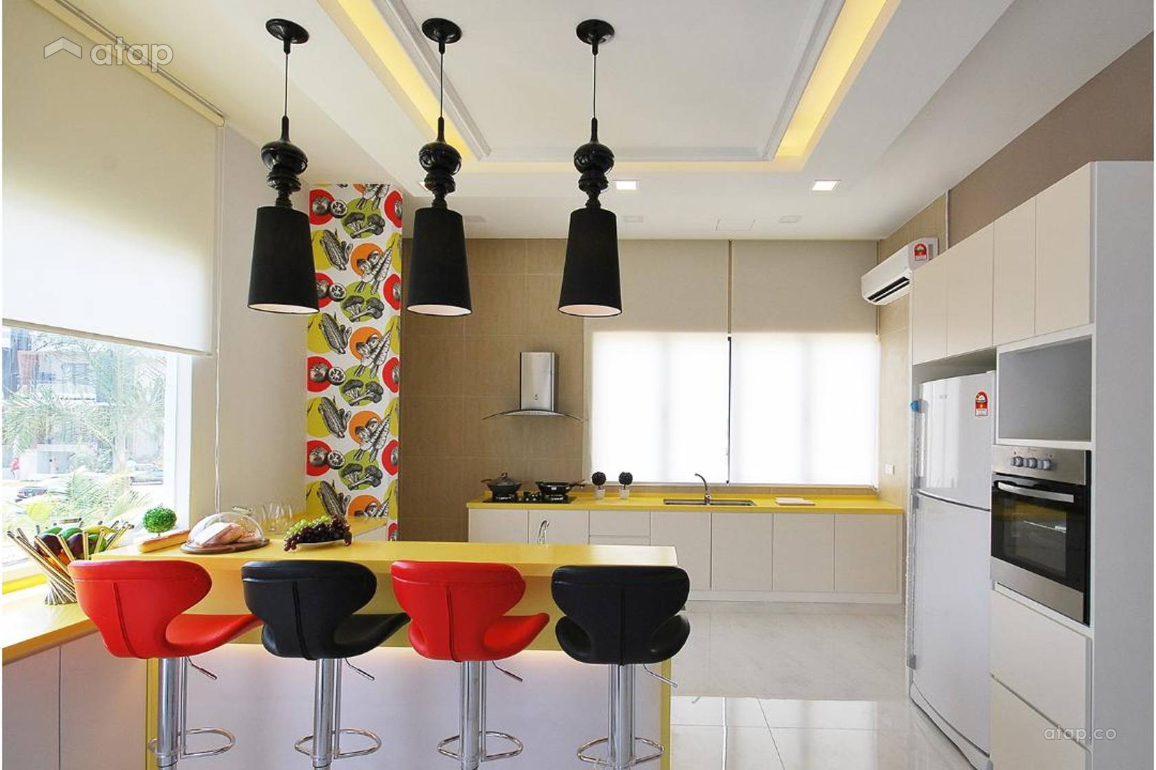 Retro Modern Dining Room Kitchen @ Ipoh South Precinct Show Unit