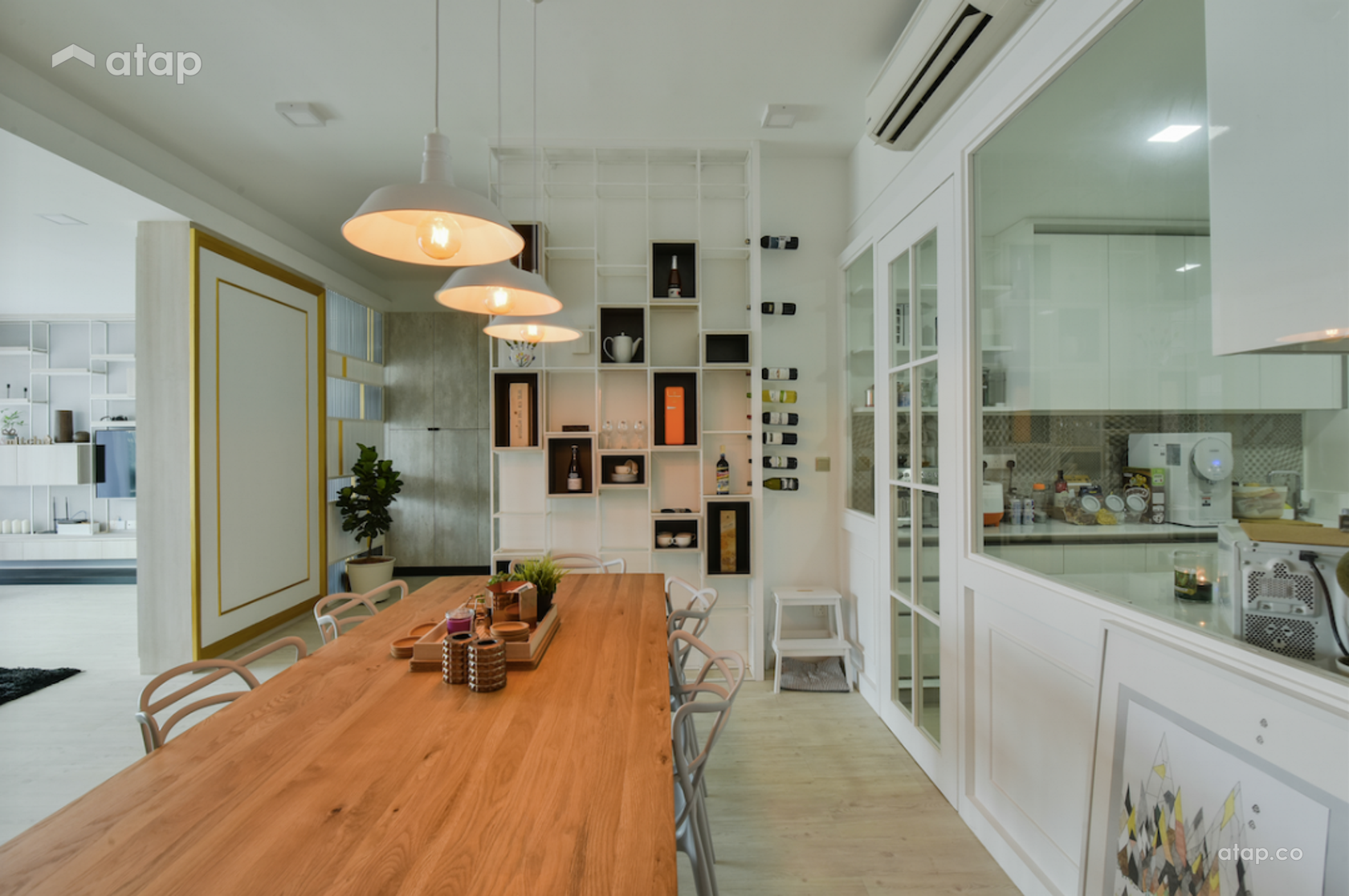 Scandinavian Dining Room @ KL Sky Residences