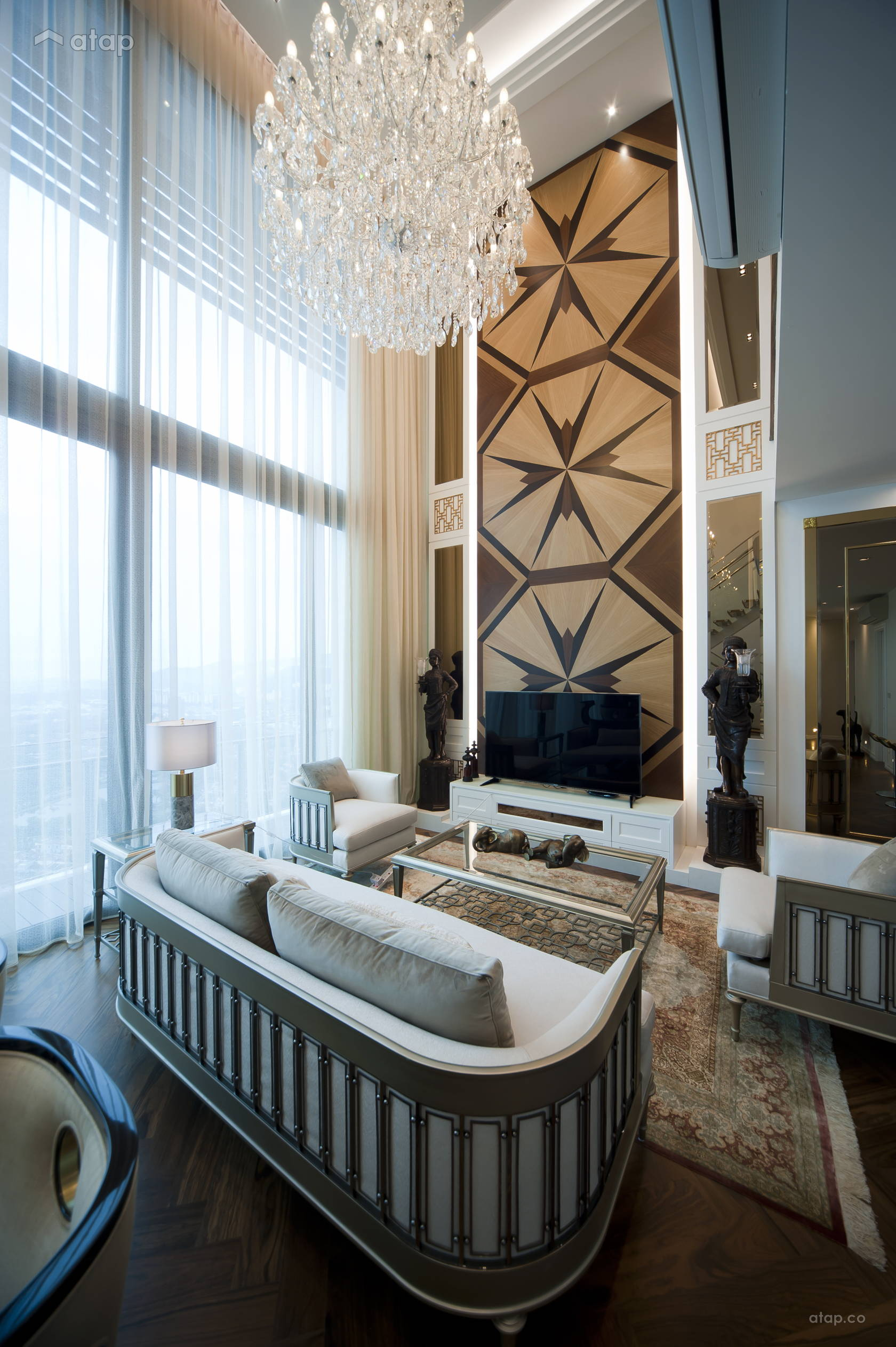 Classic Modern Living Room @ < The Epitome of Classic Elegance > @ One Central Park Pent House