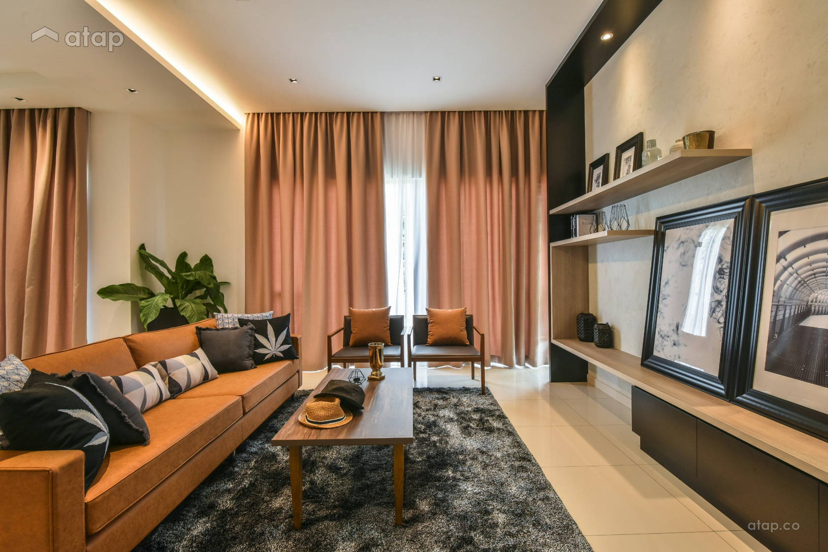 Contemporary Living Room @ Gamuda Garden 1B