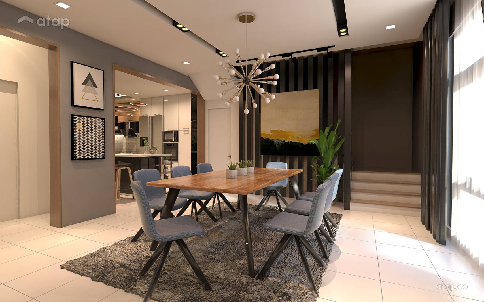 Contemporary Modern Dining Room bungalow design ideas ...