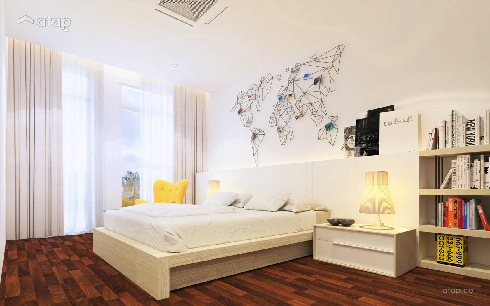 Contemporary Modern Bedroom @ The Rafflesia